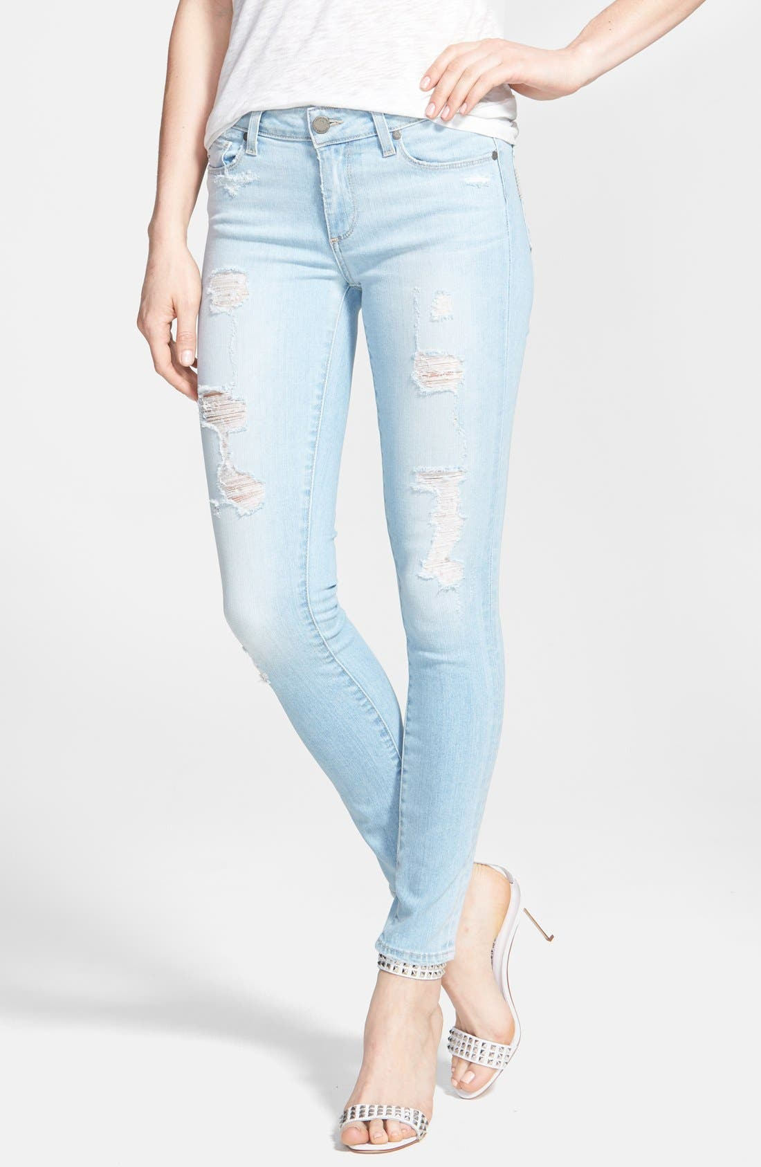 Alternate Image 1 Selected - Paige Denim 'Verdugo' Destroyed Crop Skinny Jeans (Naomi Destructed)