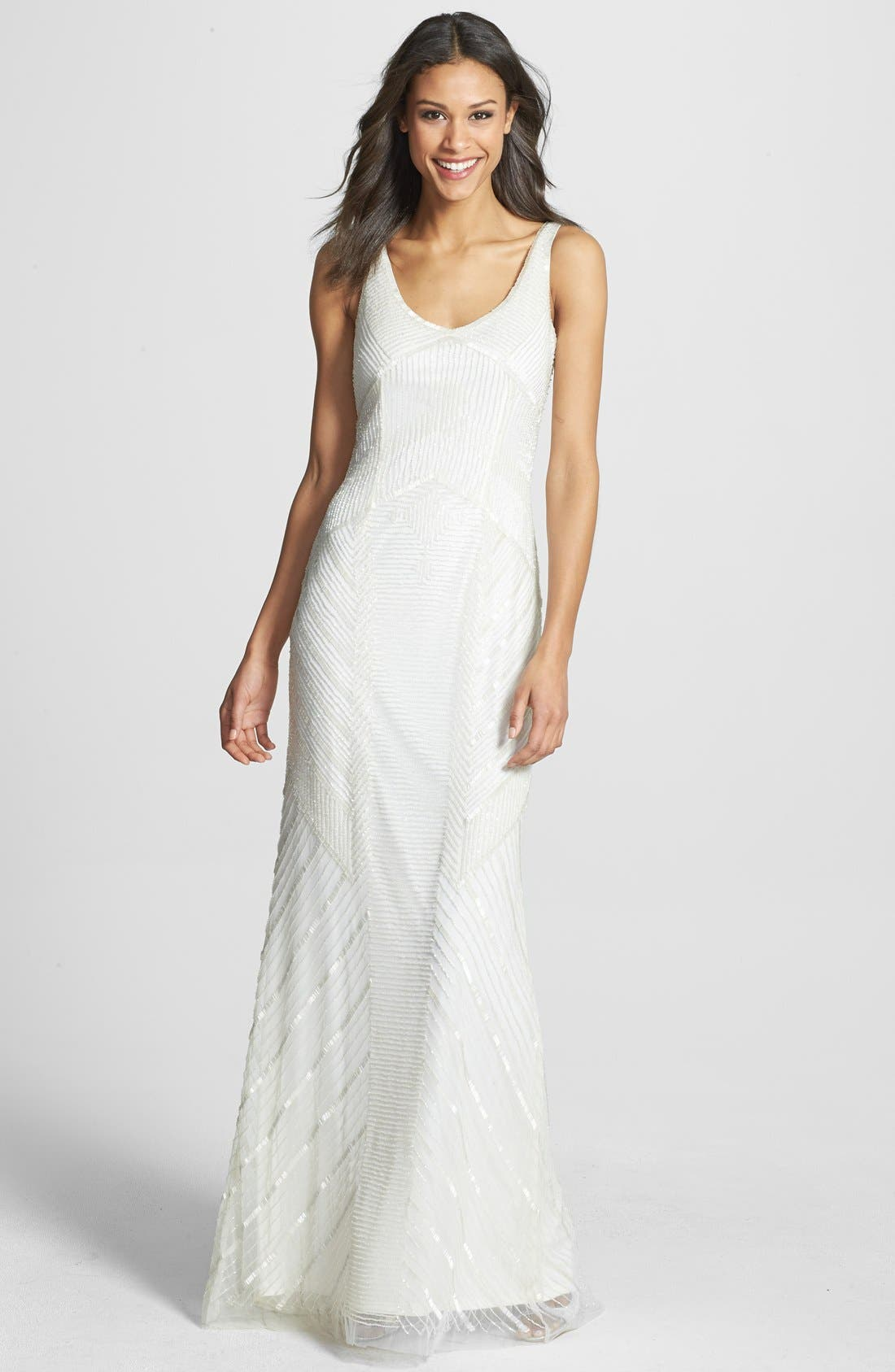 Alternate Image 1 Selected - Adrianna Papell Long Beaded Gown
