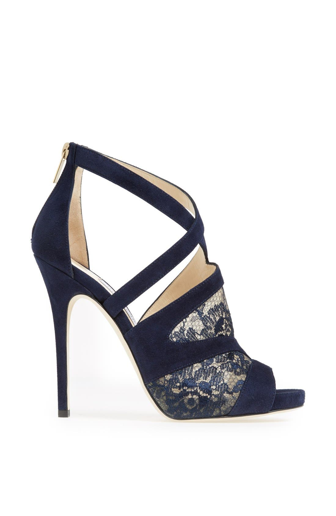 Alternate Image 4  - Jimmy Choo 'Vantage' Suede & Lace Sandal