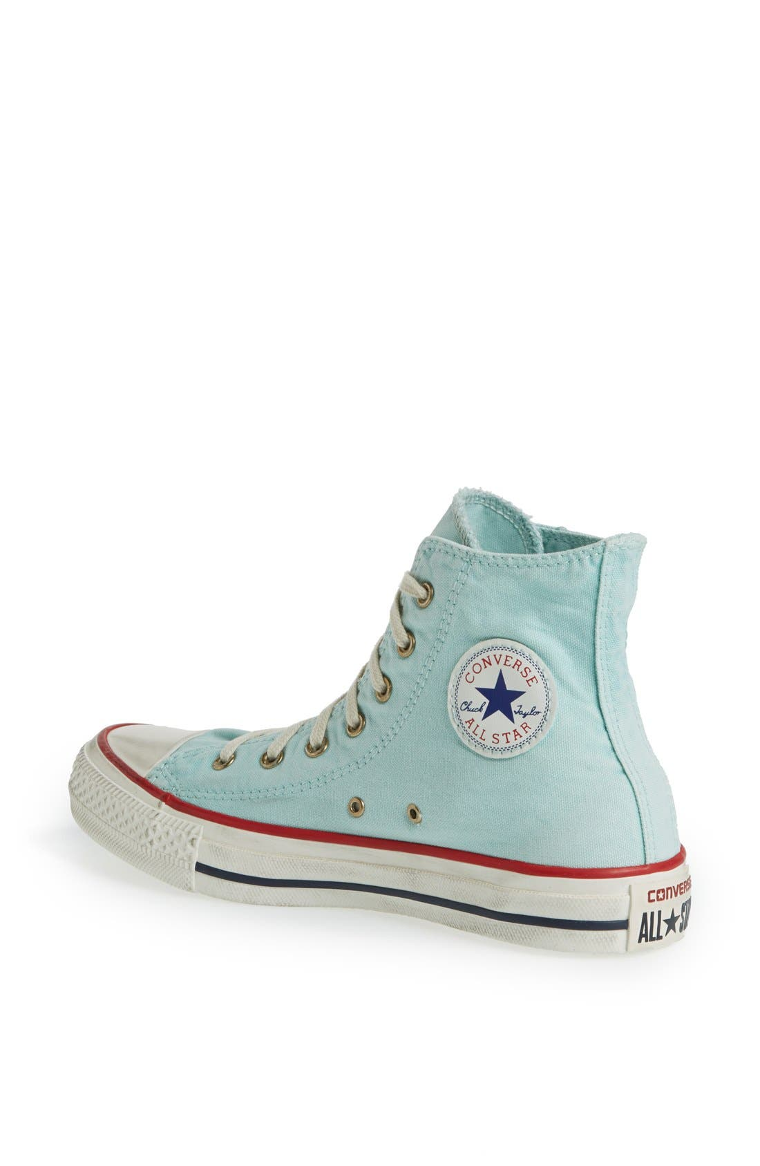 Alternate Image 2  - Converse Chuck Taylor® All Star® Washed Canvas High Top Sneaker (Women)