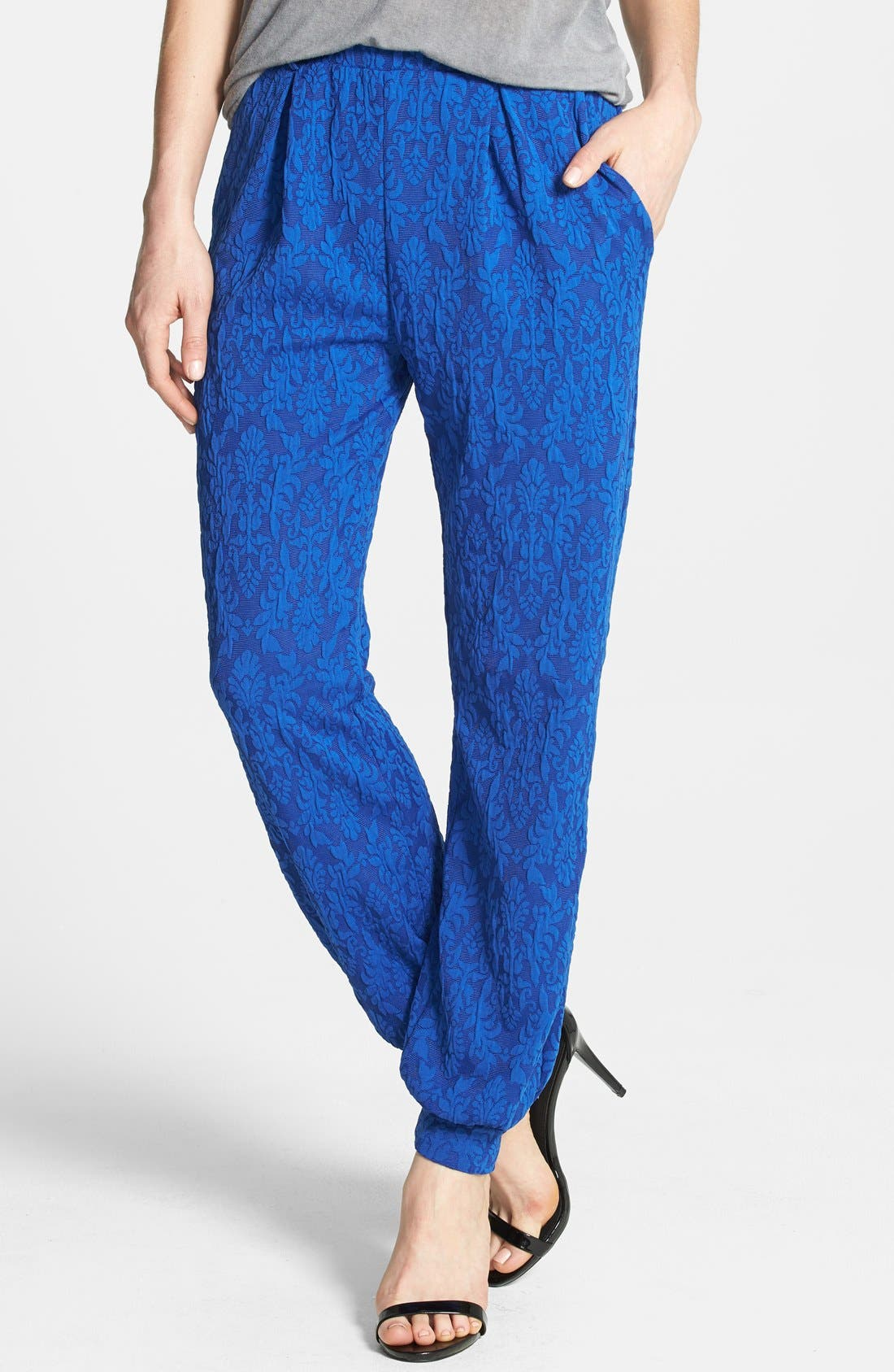 Alternate Image 1 Selected - June & Hudson Lace Jogger Pants