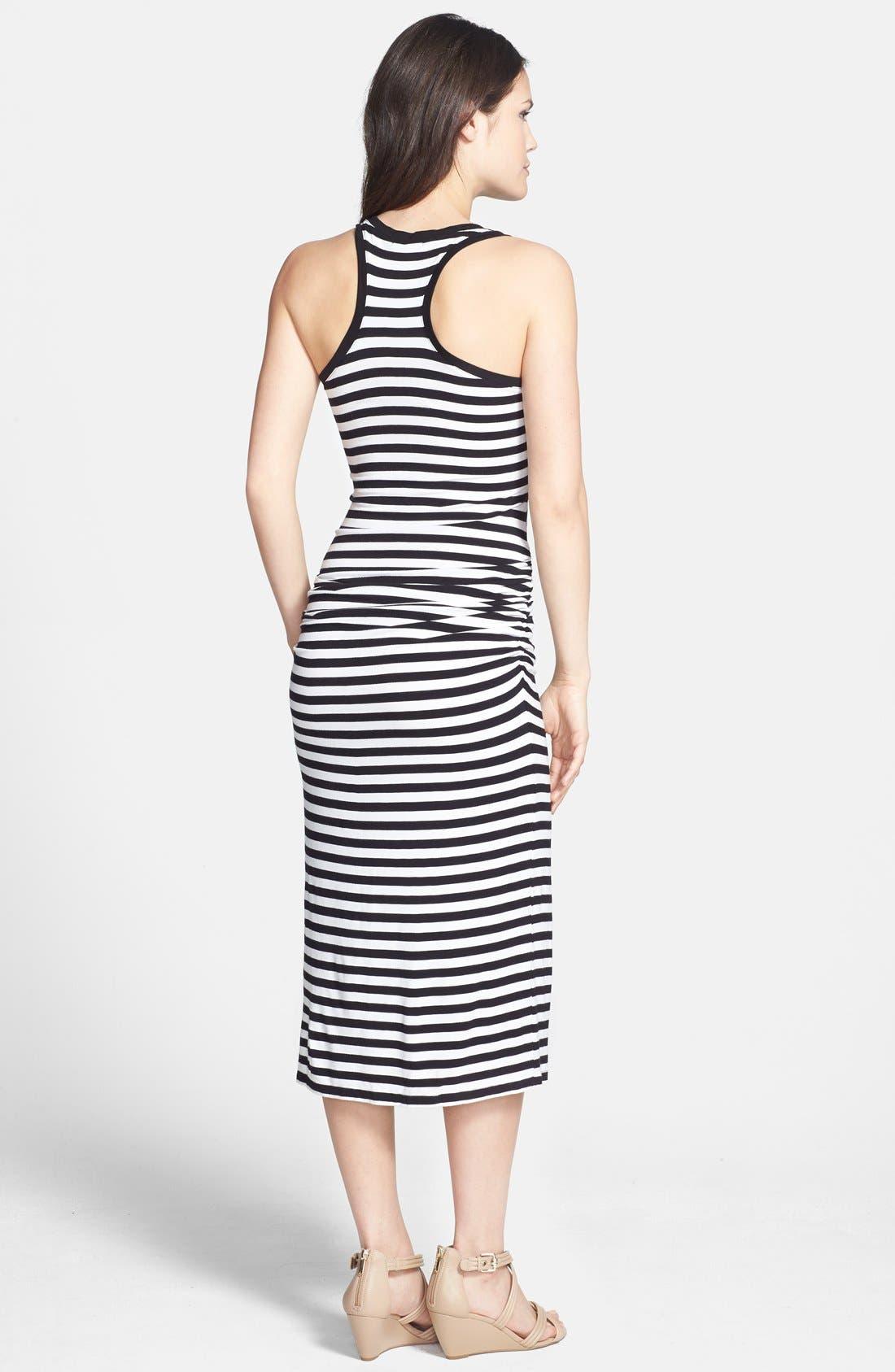 Alternate Image 2  - Halogen® Racerback Stretch Knit Midi Dress