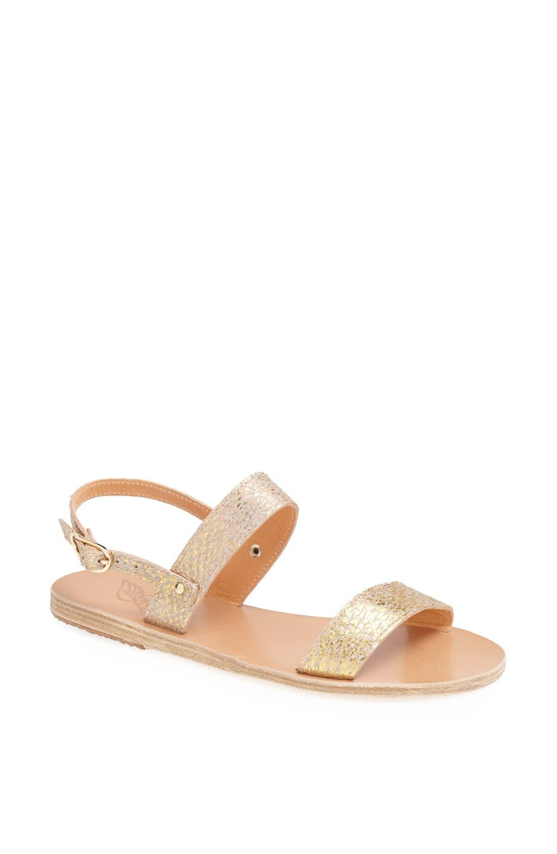 Main Image - Ancient Greek Sandals 'Clio' Metallic Salmon Skin Sandal