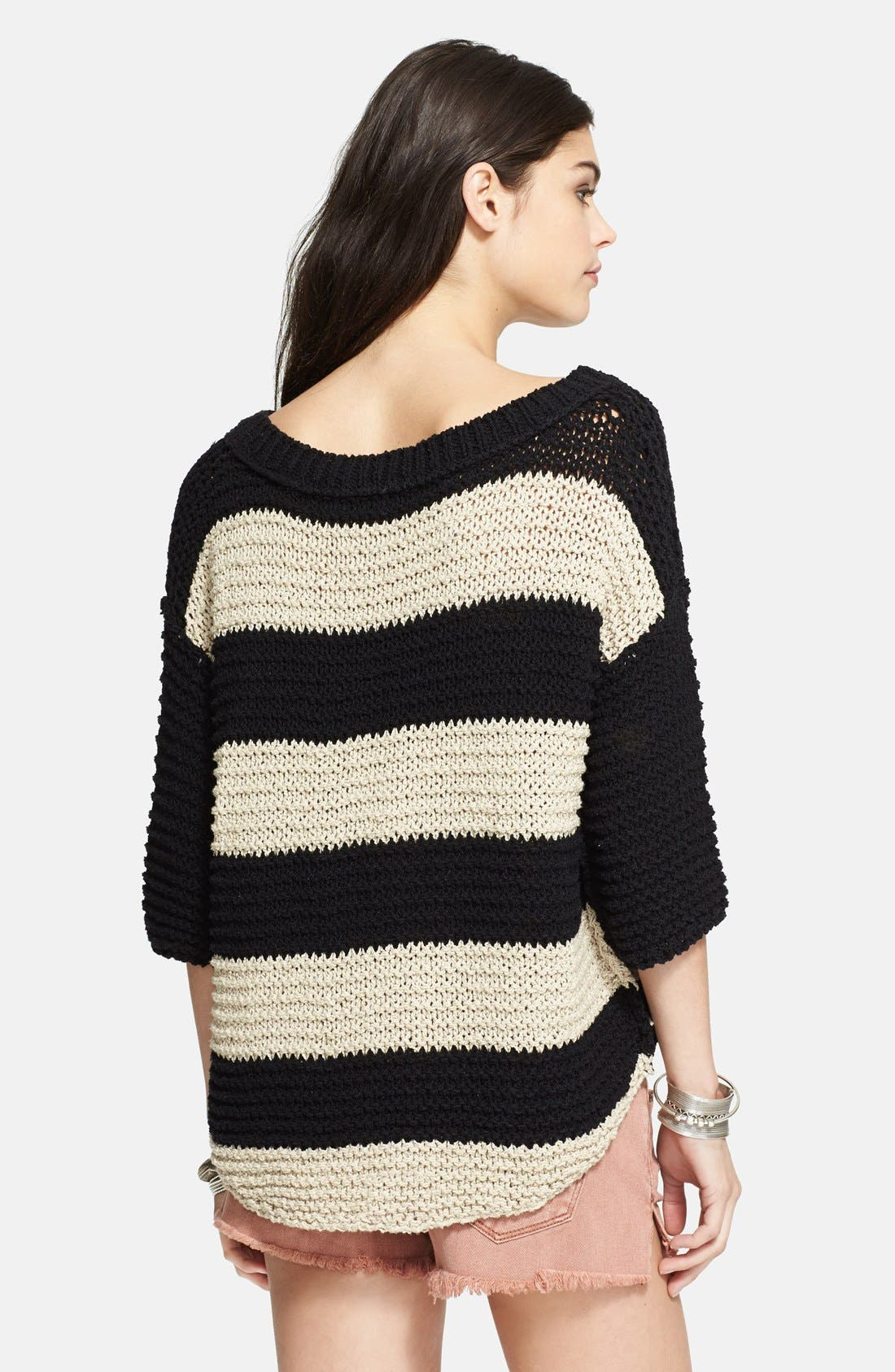 Alternate Image 2  - Free People 'Park Slope' Stripe V-Neck Sweater