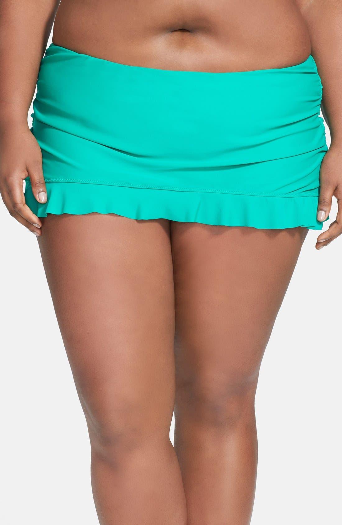 Alternate Image 1 Selected - Jessica Simpson Skirted Swim Bottoms (Plus Size)
