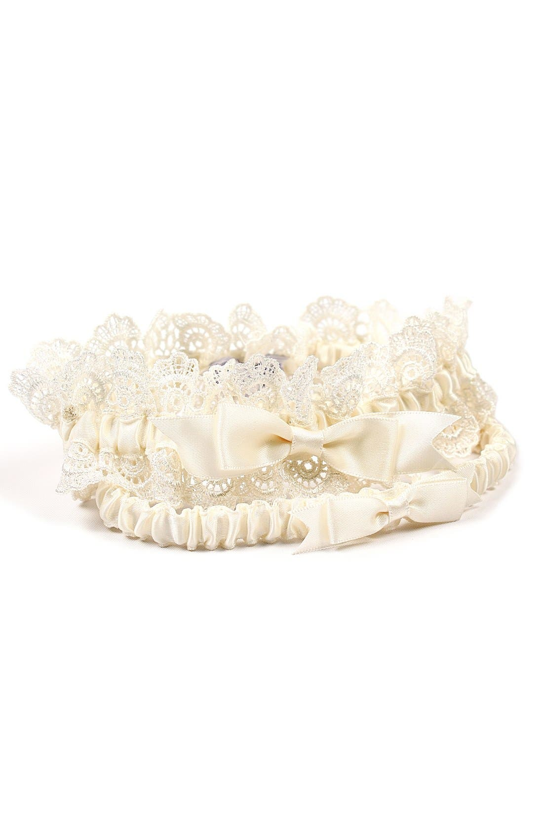 Alternate Image 1 Selected - Cathy's Concepts 'Eleanor' Lace Wedding Garter