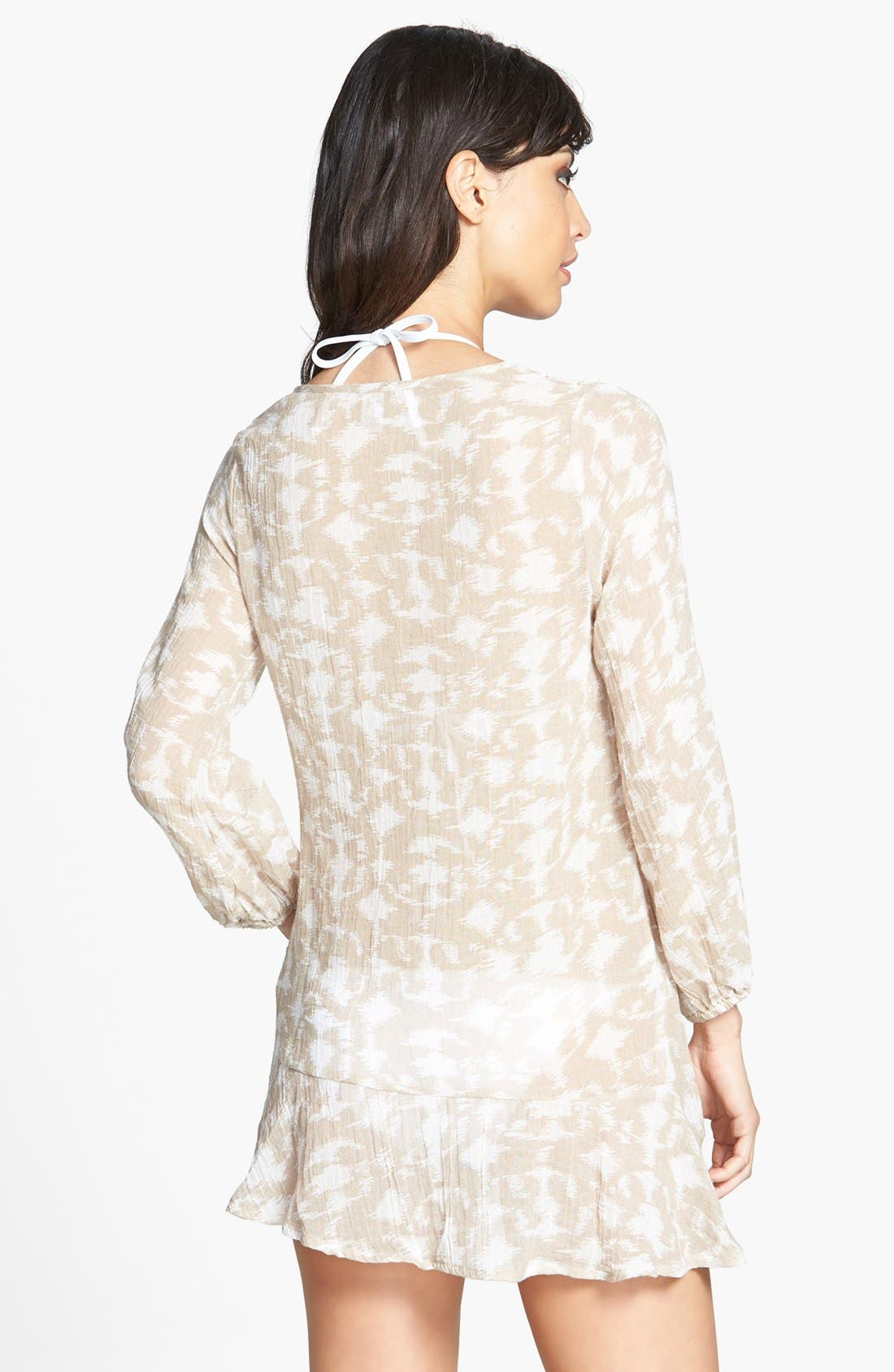 Alternate Image 2  - Eberjey 'Hidden Cove Natalya' Lace Trim Ikat Cover-Up Dress