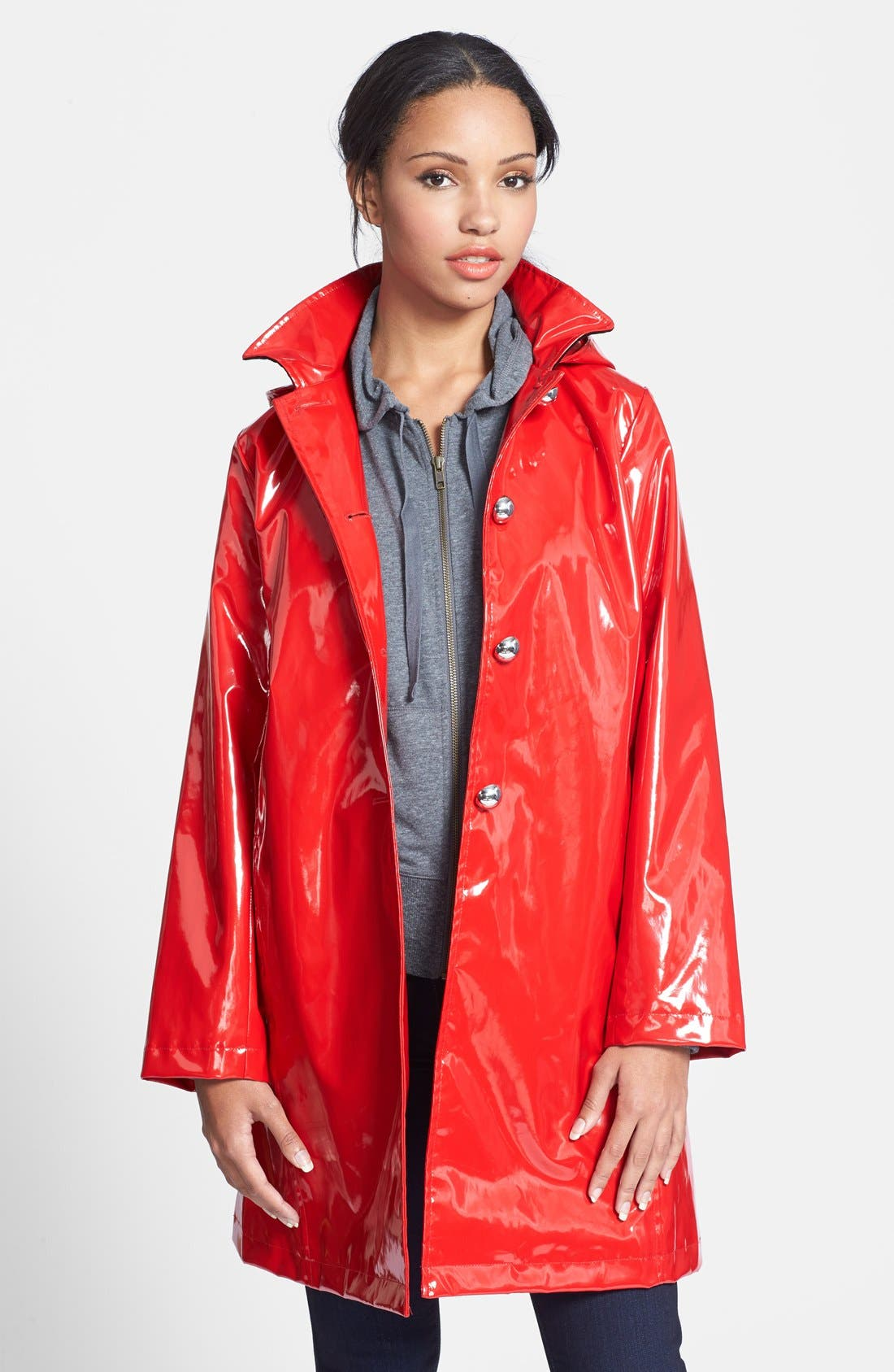 Alternate Image 1 Selected - Jane Post 'Princess' Rain Slicker with Detachable Hood