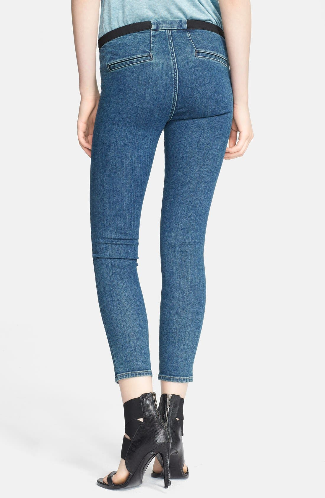 Alternate Image 2  - Helmut Lang Denim Leggings