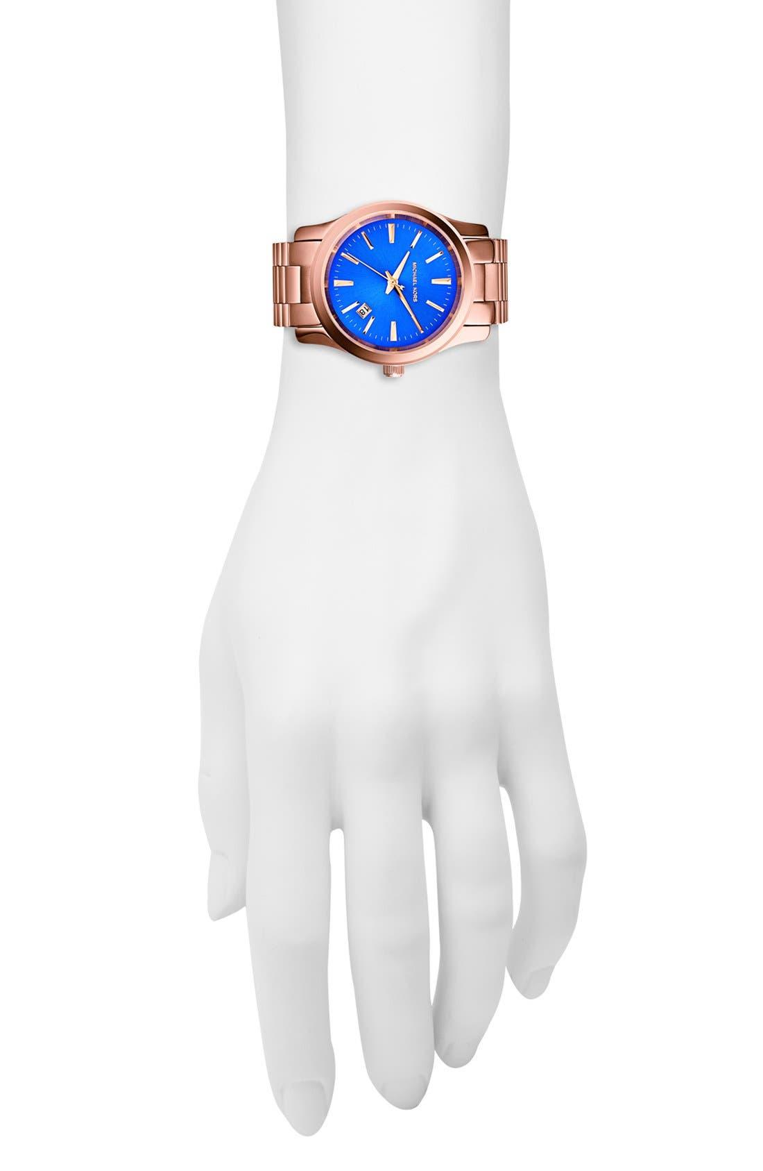 Alternate Image 4  - Michael Kors 'Runway' Round Bracelet Watch, 38mm