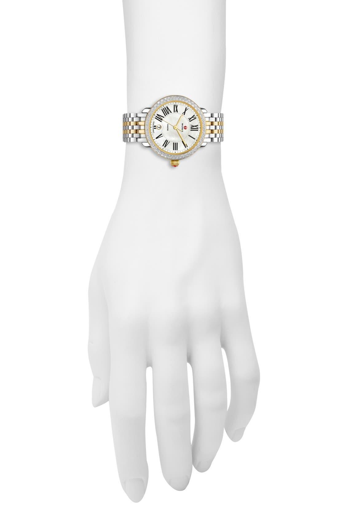 Alternate Image 2  - MICHELE Serein 16 Diamond Watch Case, 34mm x 36mm