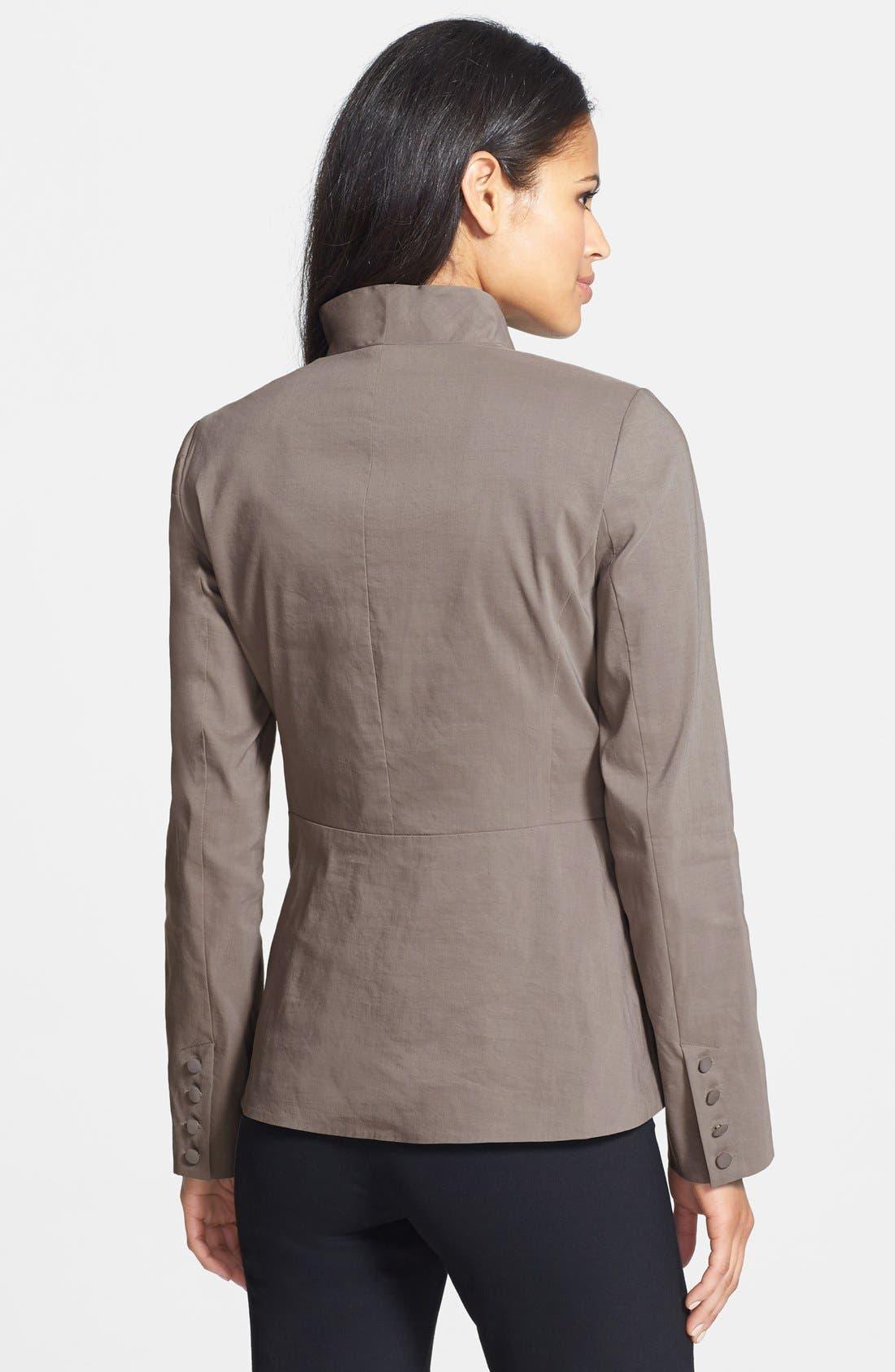 Alternate Image 2  - Eileen Fisher High Collar Peplum Jacket (Regular & Petite)