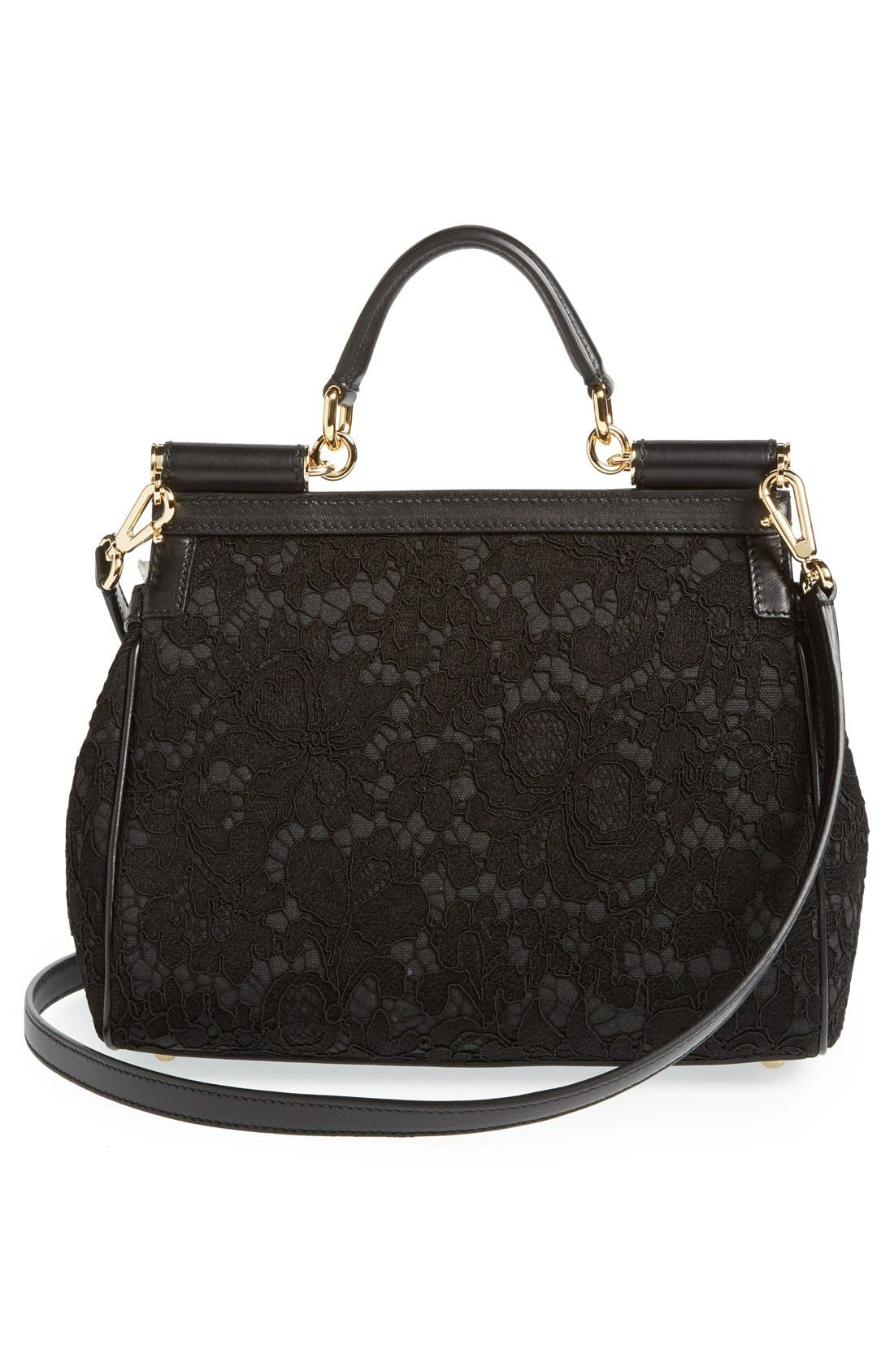 Alternate Image 4  - Dolce&Gabbana 'Small Miss Sicily' Top Handle Satchel