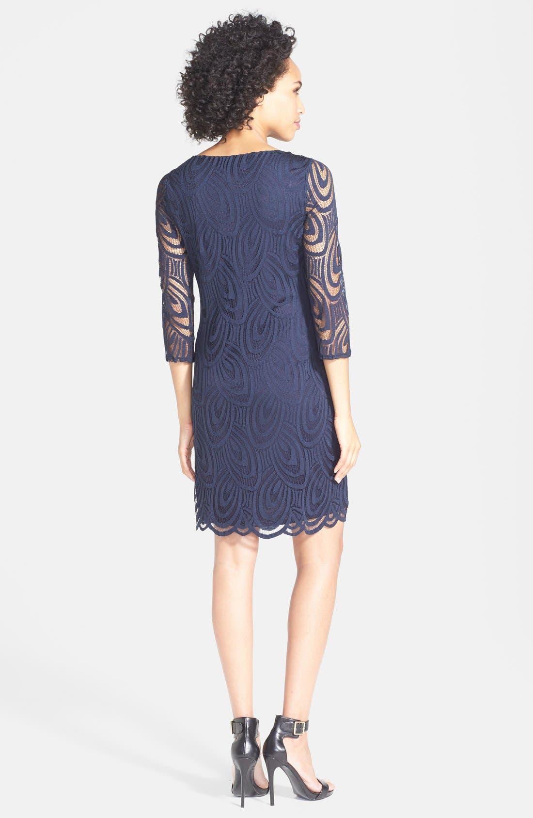 Alternate Image 2  - wallis Scallop Lace Shift Dress