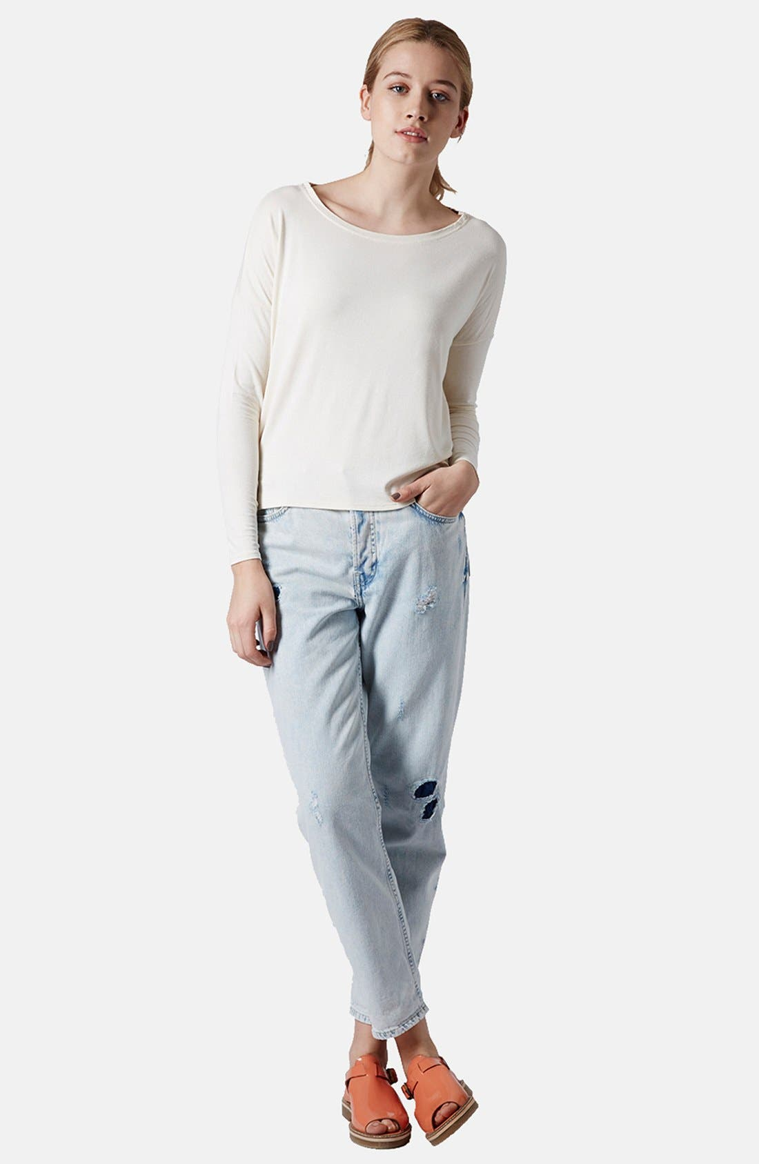 Alternate Image 4  - Topshop Long Sleeve Crepe Top
