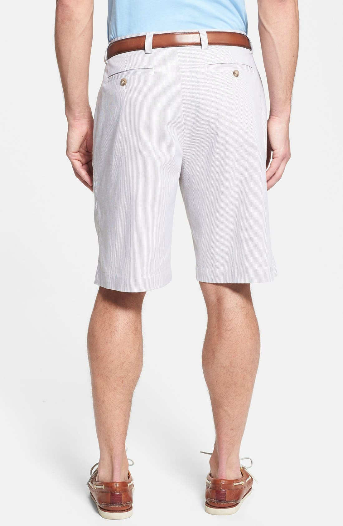 Alternate Image 2  - Cutter & Buck 'Avalon Way' Pleated Stripe Shorts