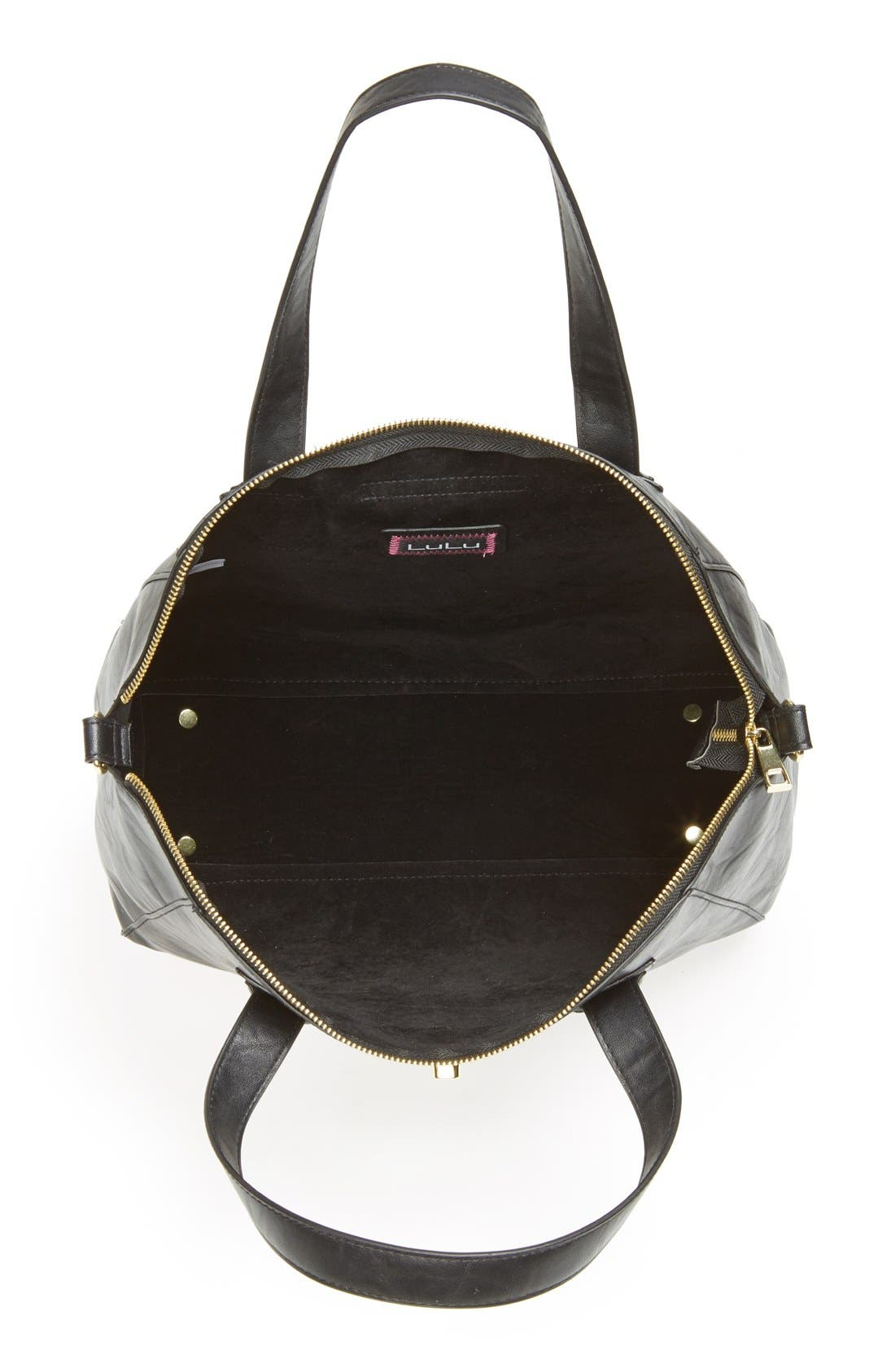 Alternate Image 2  - Lulu Faux Leather Satchel (Juniors)