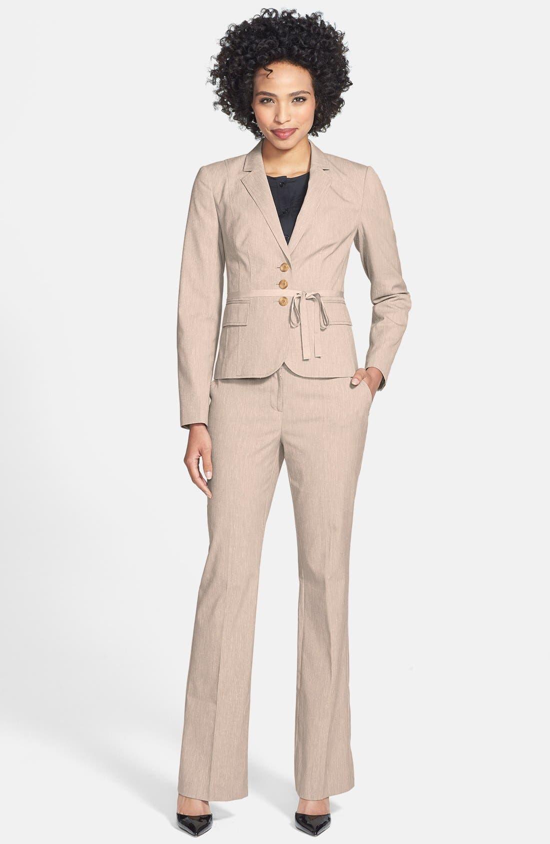 Alternate Image 4  - Halogen® Belted Cross Weave Jacket