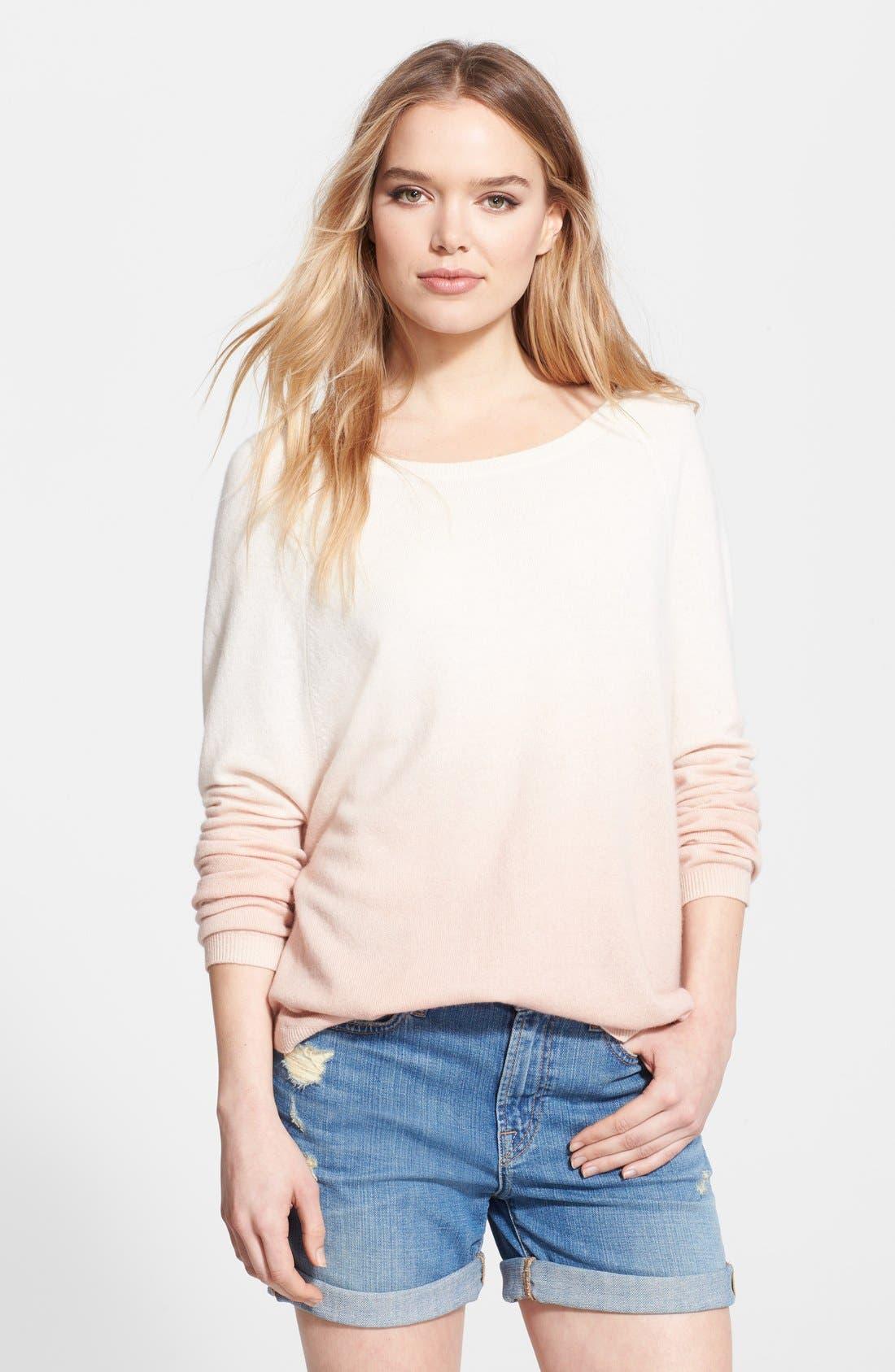 Alternate Image 1 Selected - Vince Dip Dye Raglan Sleeve Sweater