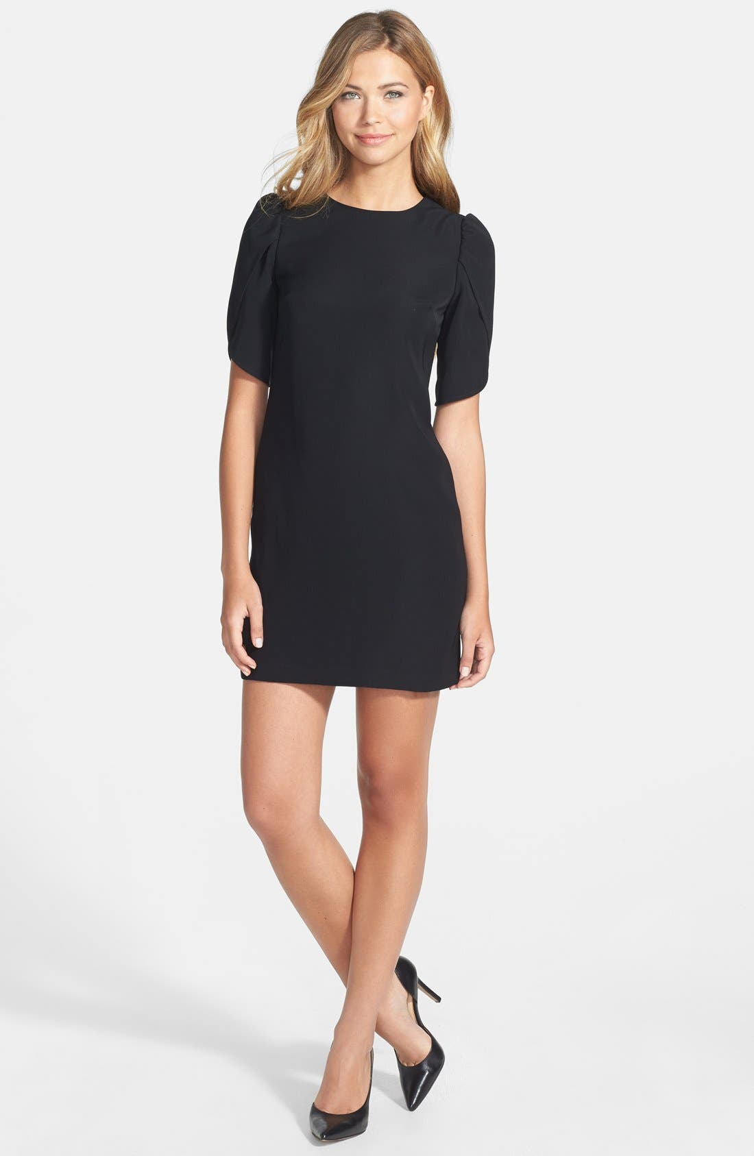 Alternate Image 3  - Cynthia Steffe Tulip Sleeve Crepe Shift Dress
