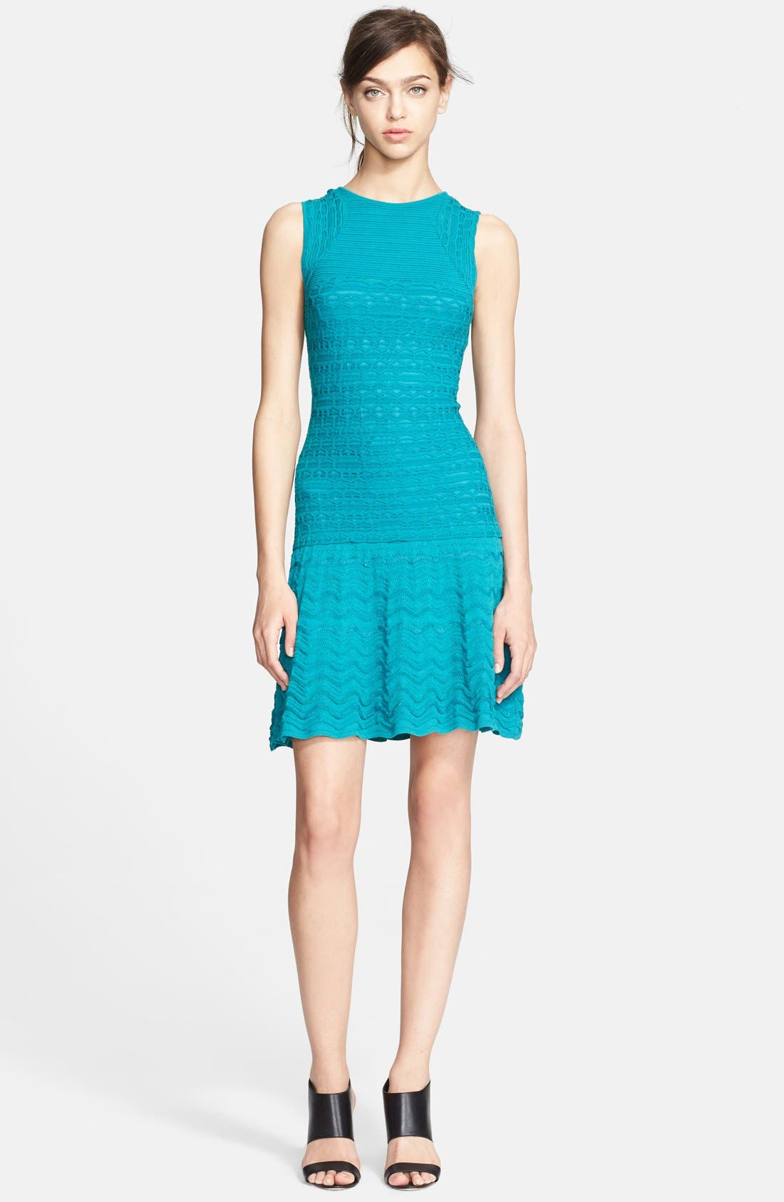Main Image - M Missoni Sleeveless Crochet Knit Dress
