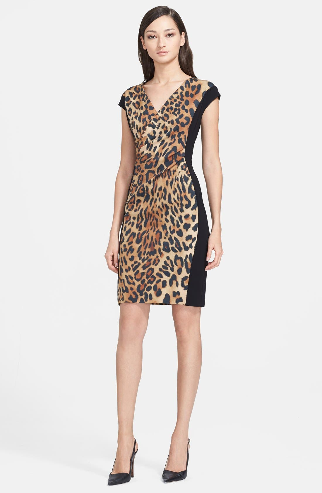 Main Image - ESCADA Leopard Print Dress