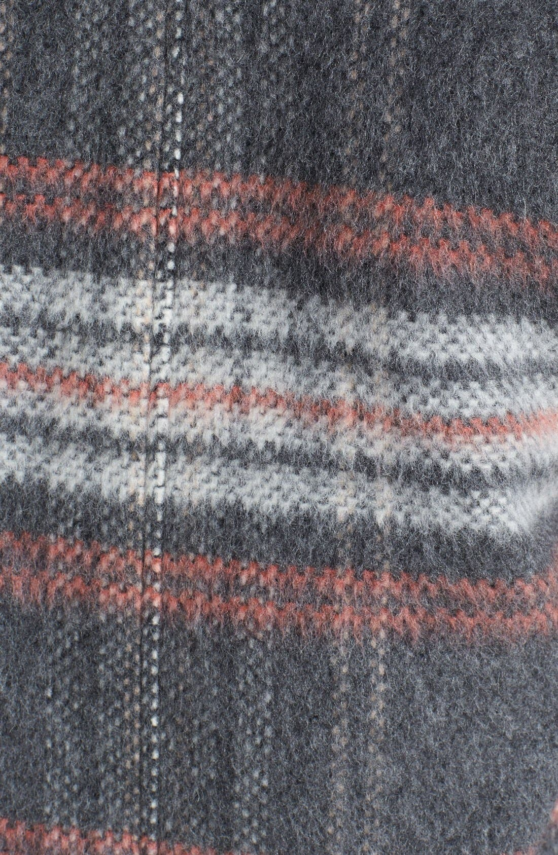 Plaid Coat,                             Alternate thumbnail 3, color,                             Pale Grey/ Pink