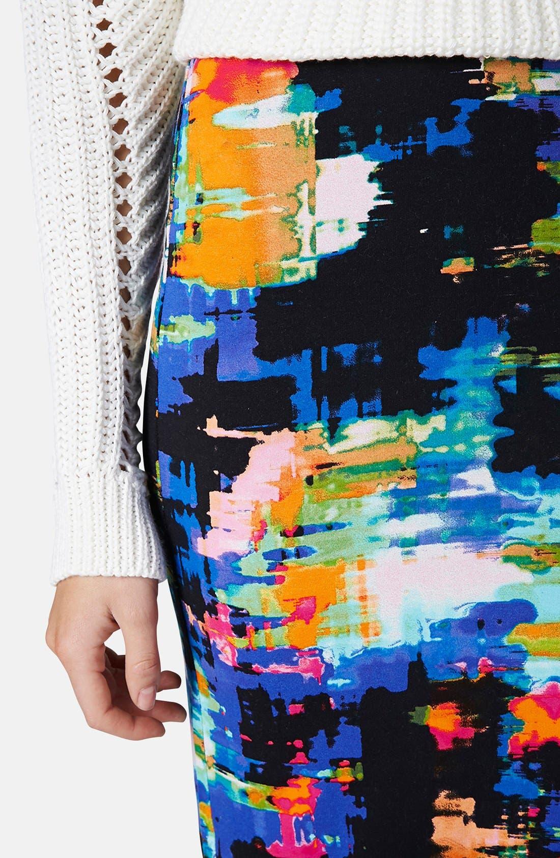 Alternate Image 4  - Topshop Print Tube Skirt