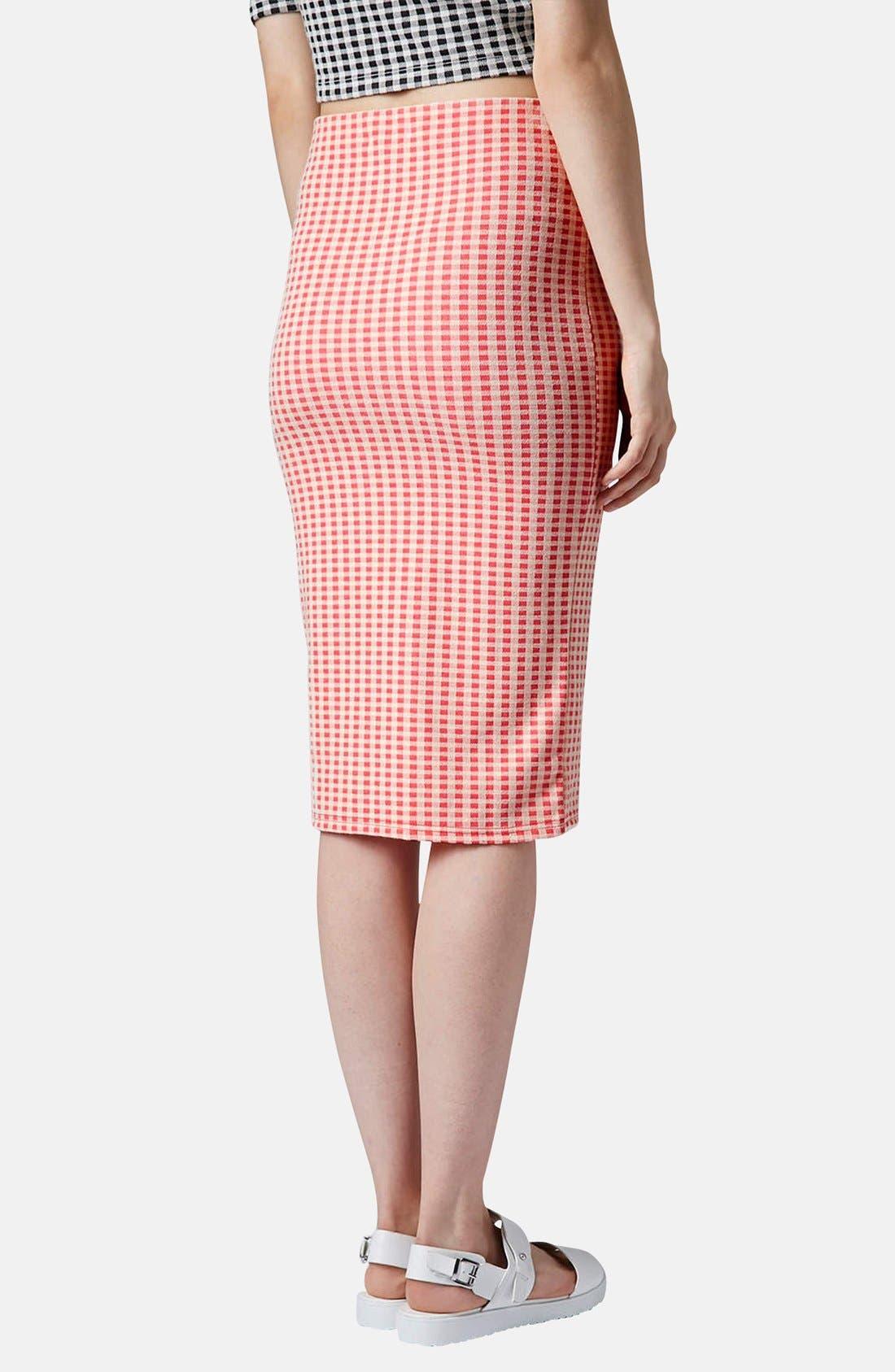 Alternate Image 2  - Topshop Gingham Tube Skirt
