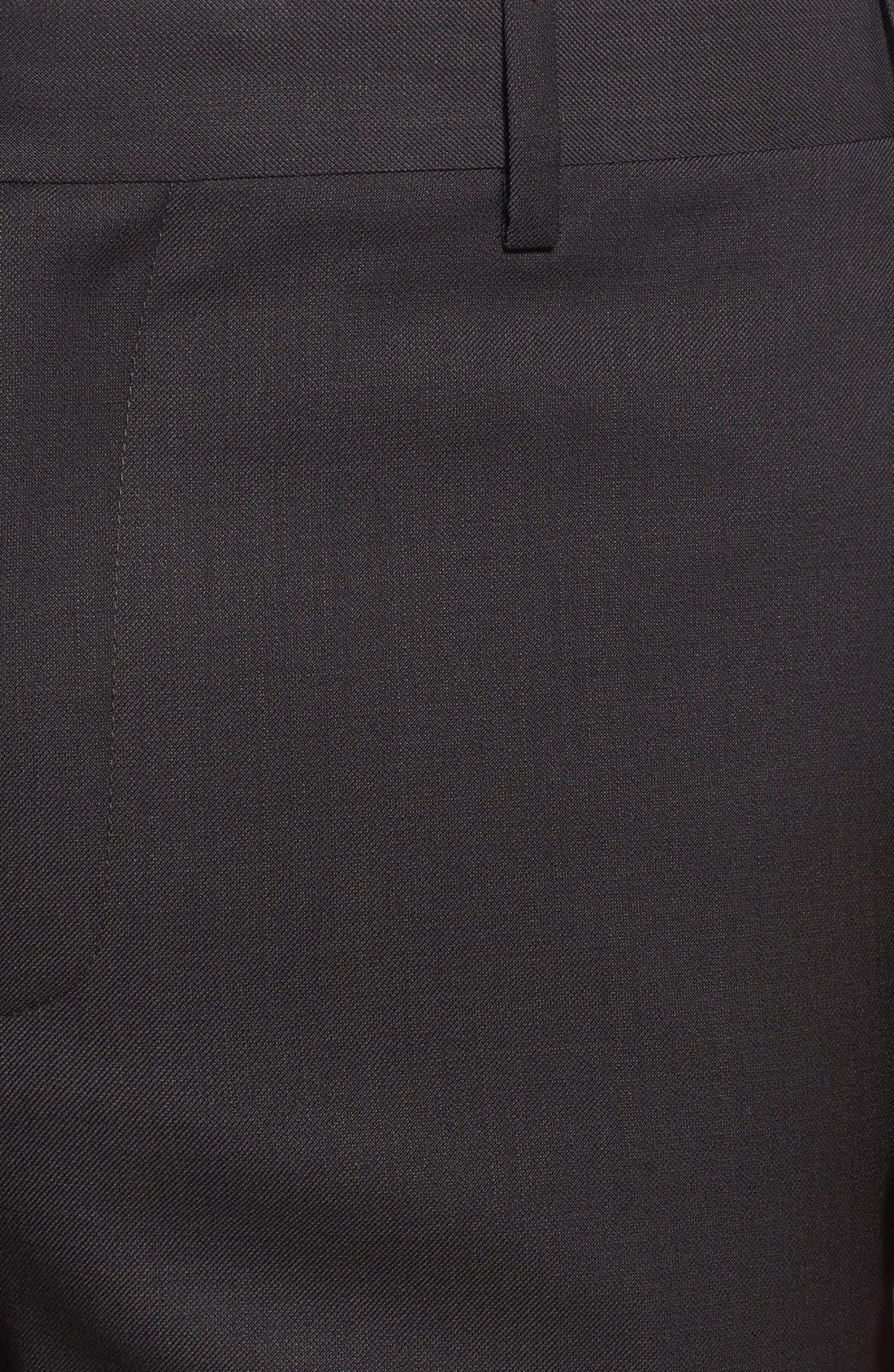 Alternate Image 2  - Zanella 'Devon' Flat Front Wool Trousers