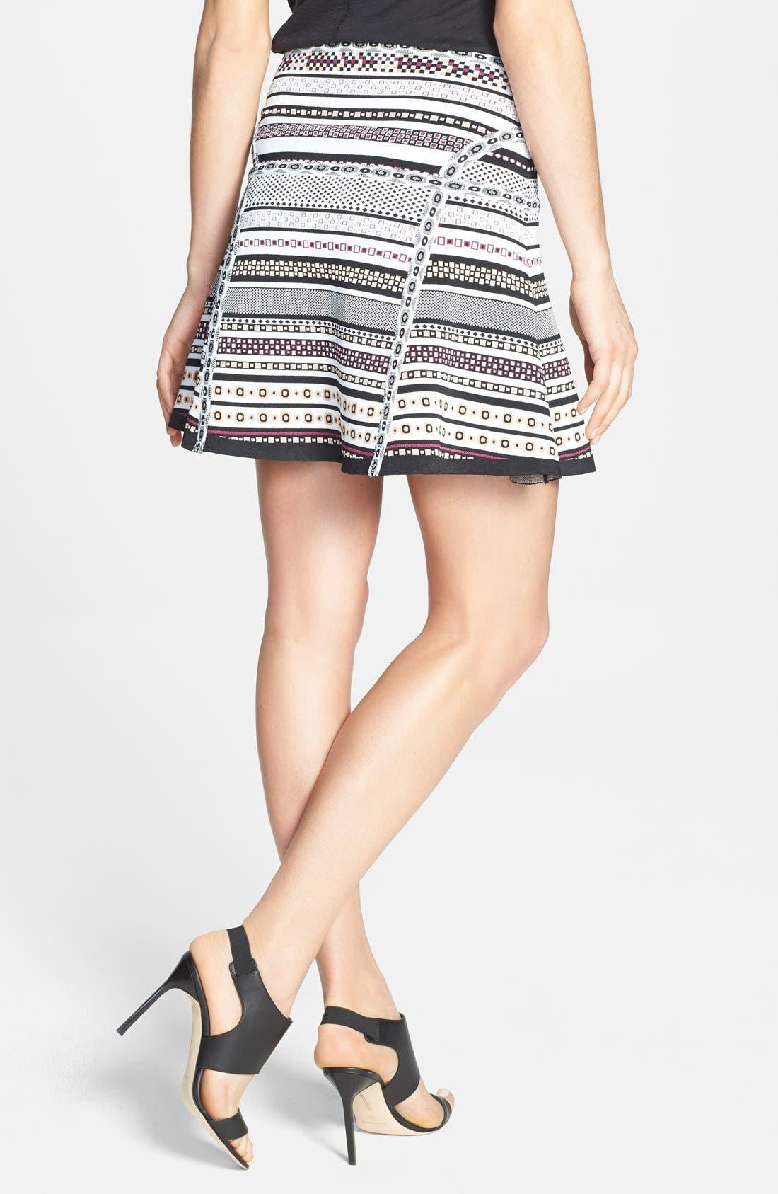 Alternate Image 2  - Diane von Furstenberg 'Flote' Print Knit A-Line Skirt