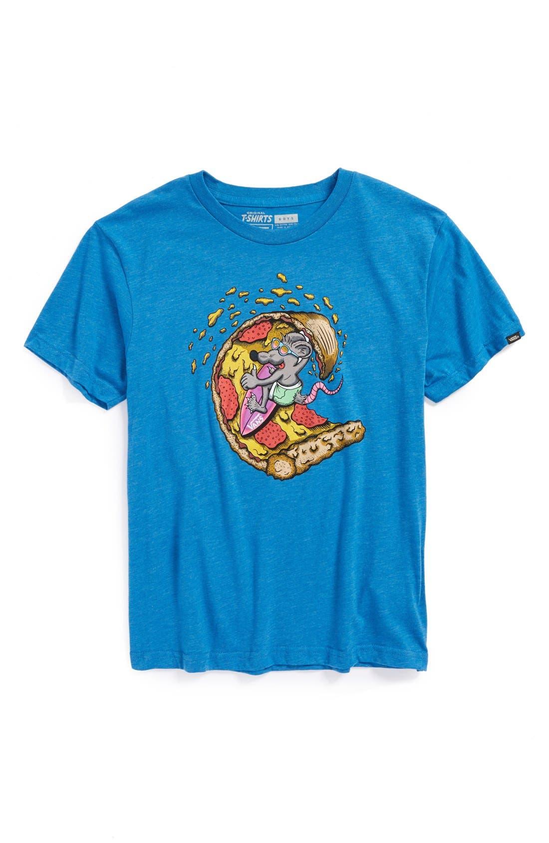 Alternate Image 1 Selected - Vans 'Pizza Rat' Short Sleeve T-Shirt (Big Boys)