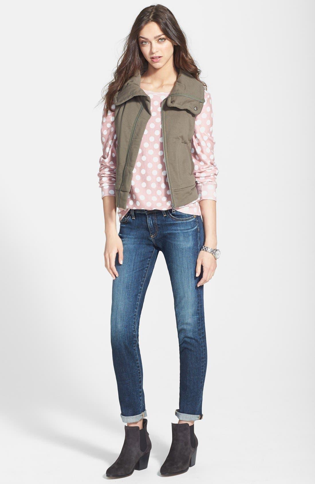 Alternate Image 5  - Splendid 'Bridger' Cotton Moto Vest (Nordstrom Online Exclusive)