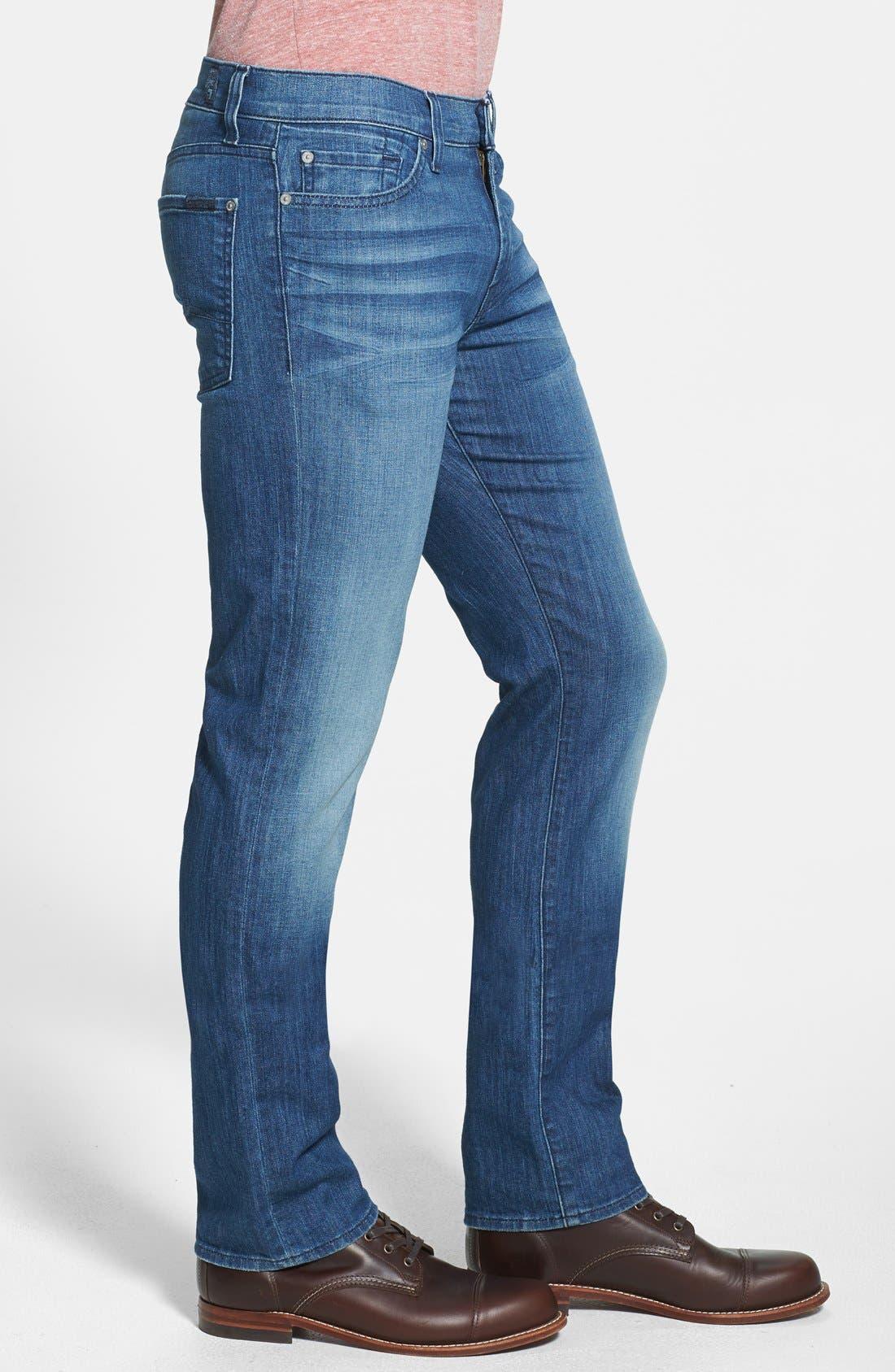 Alternate Image 3  - 7 For All Mankind® 'Slimmy' Slim Straight Leg Jeans (Delridge Indigo)