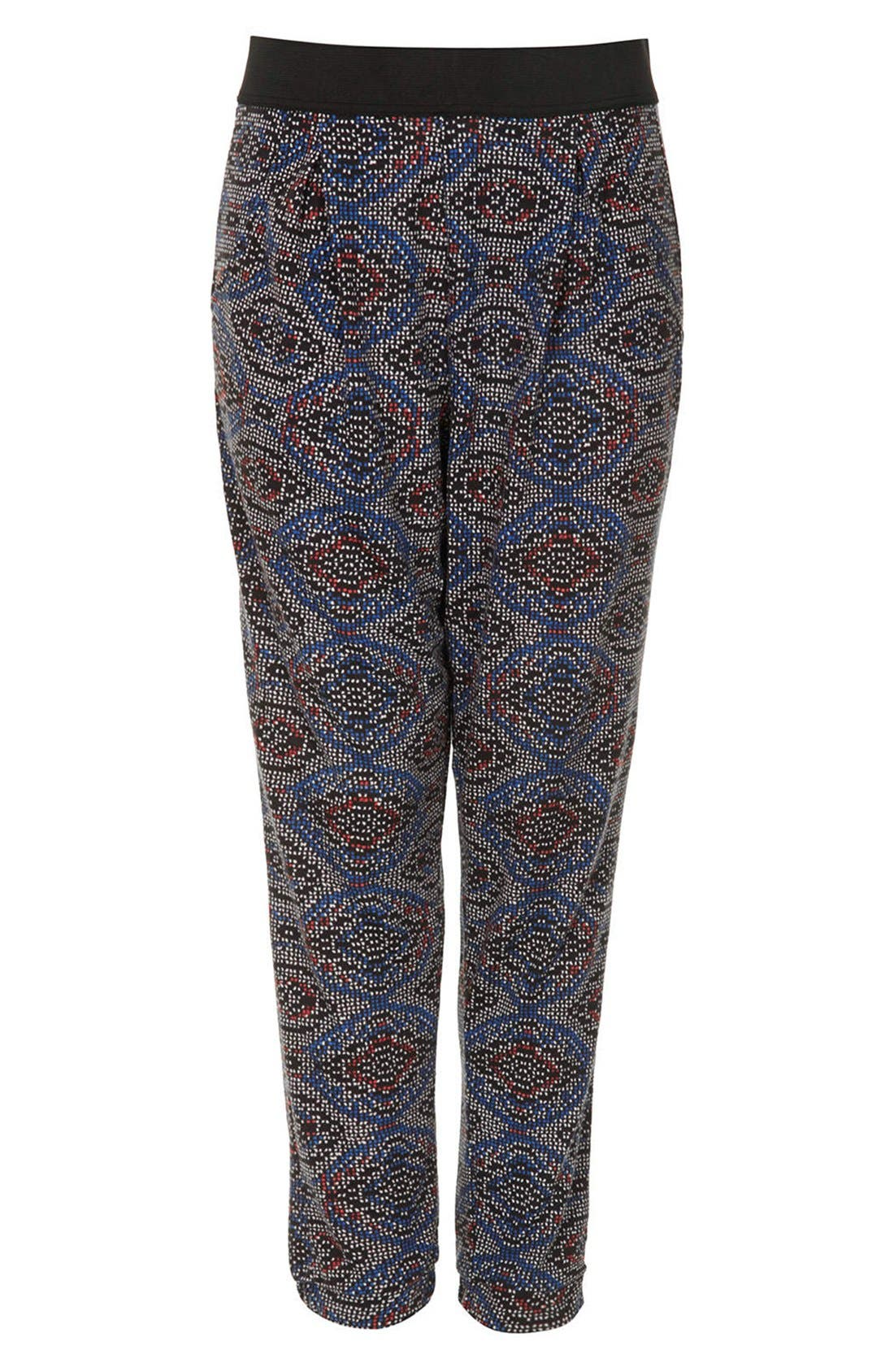 Alternate Image 3  - Topshop Tile Print Jersey Pants