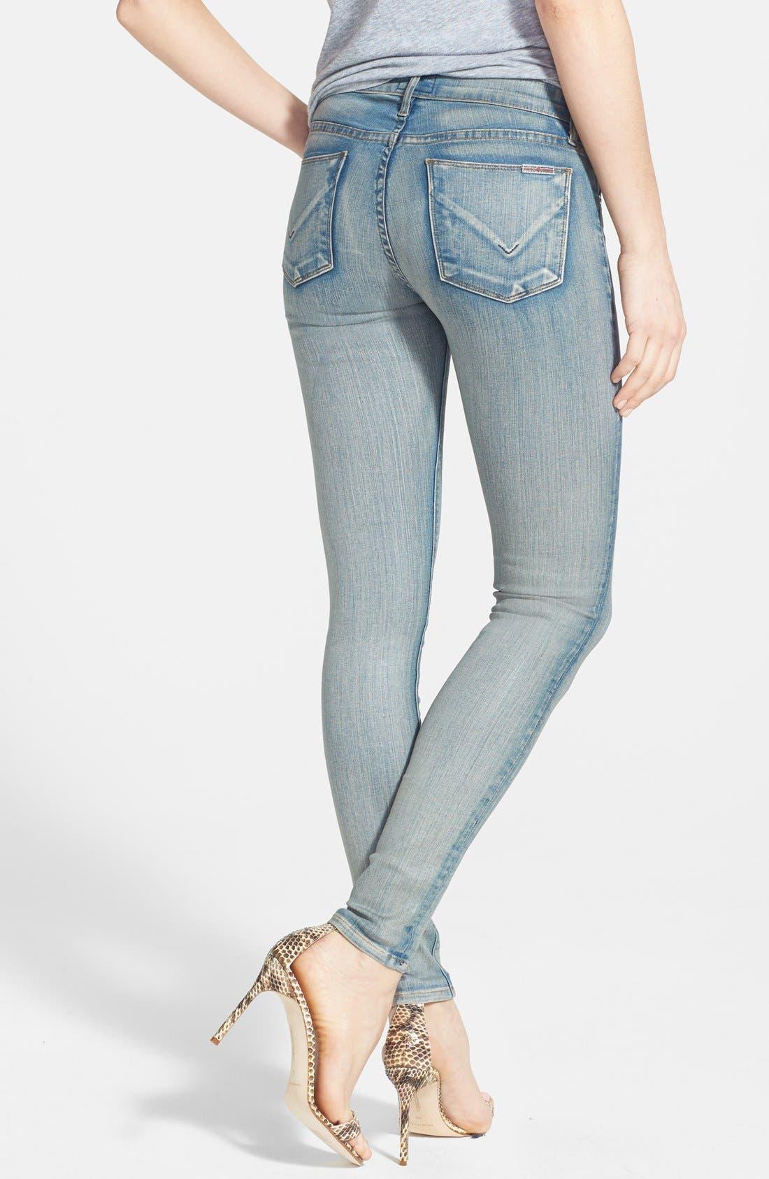 Alternate Image 2  - Hudson Jeans 'Krista' Super Skinny Jeans (Castles of Sand)