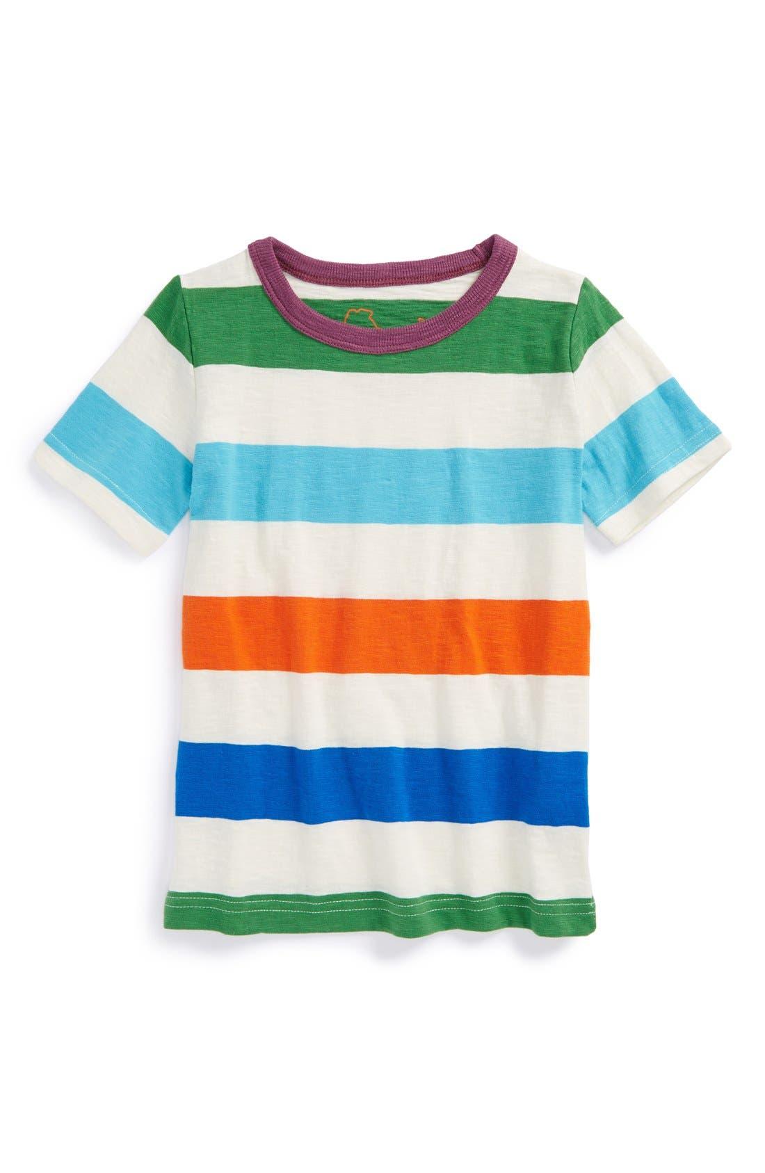 Alternate Image 1 Selected - Mini Boden 'Stripy' Cotton Jersey T-Shirt (Toddler Boys, Little Boys & Big Boys)