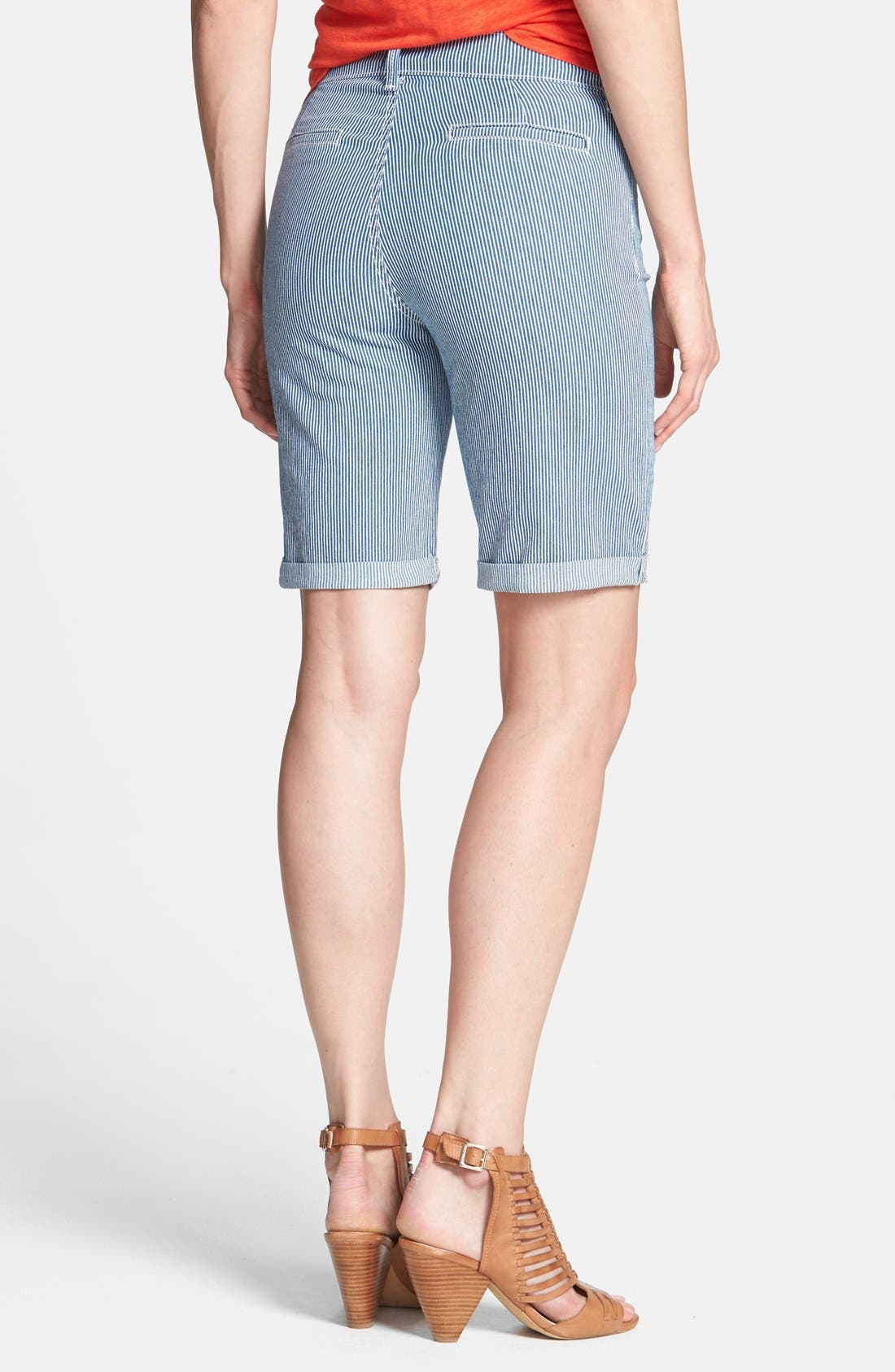 Alternate Image 2  - NYDJ 'Brianna' Stretch Denim Bermuda Shorts