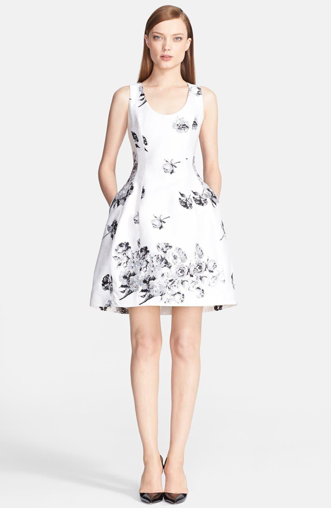 Alternate Image 1 Selected - Prabal Gurung Rose Jacquard Dress