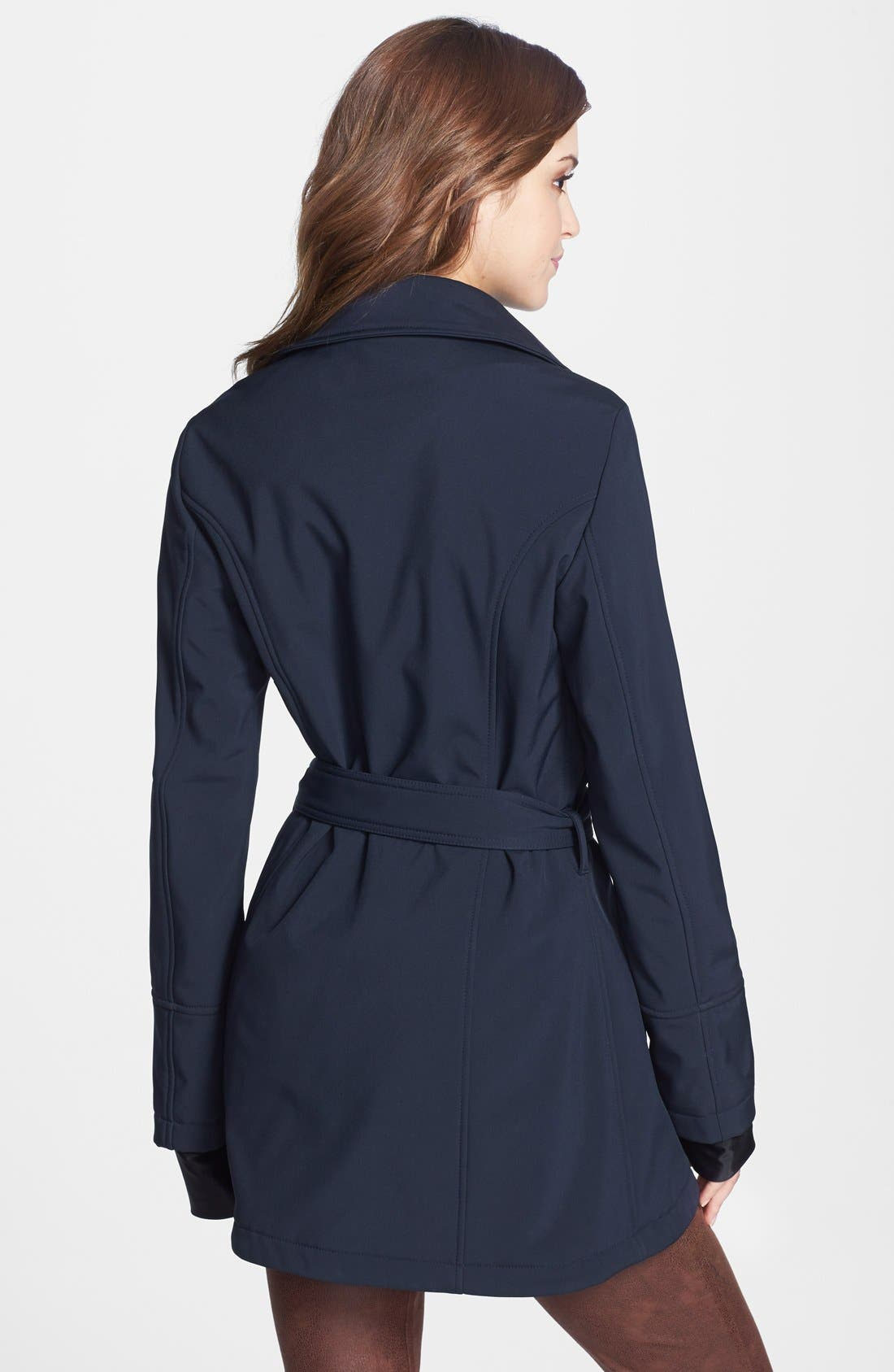 Alternate Image 2  - Betsey Johnson Tulip Hem Soft Shell Jacket