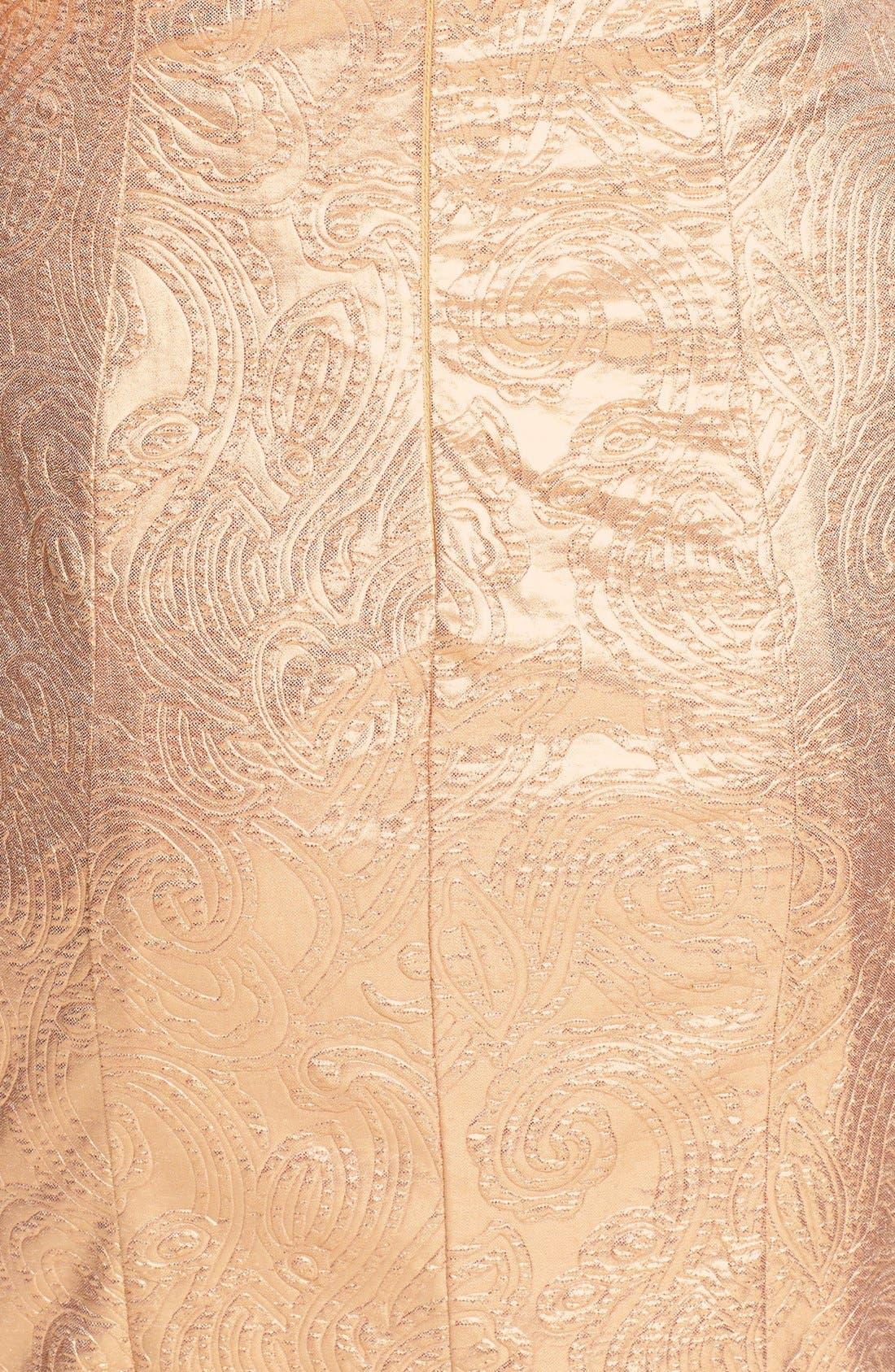 Alternate Image 3  - Hailey Logan Ruffle Metallic Tube Dress (Juniors) (Online Only)