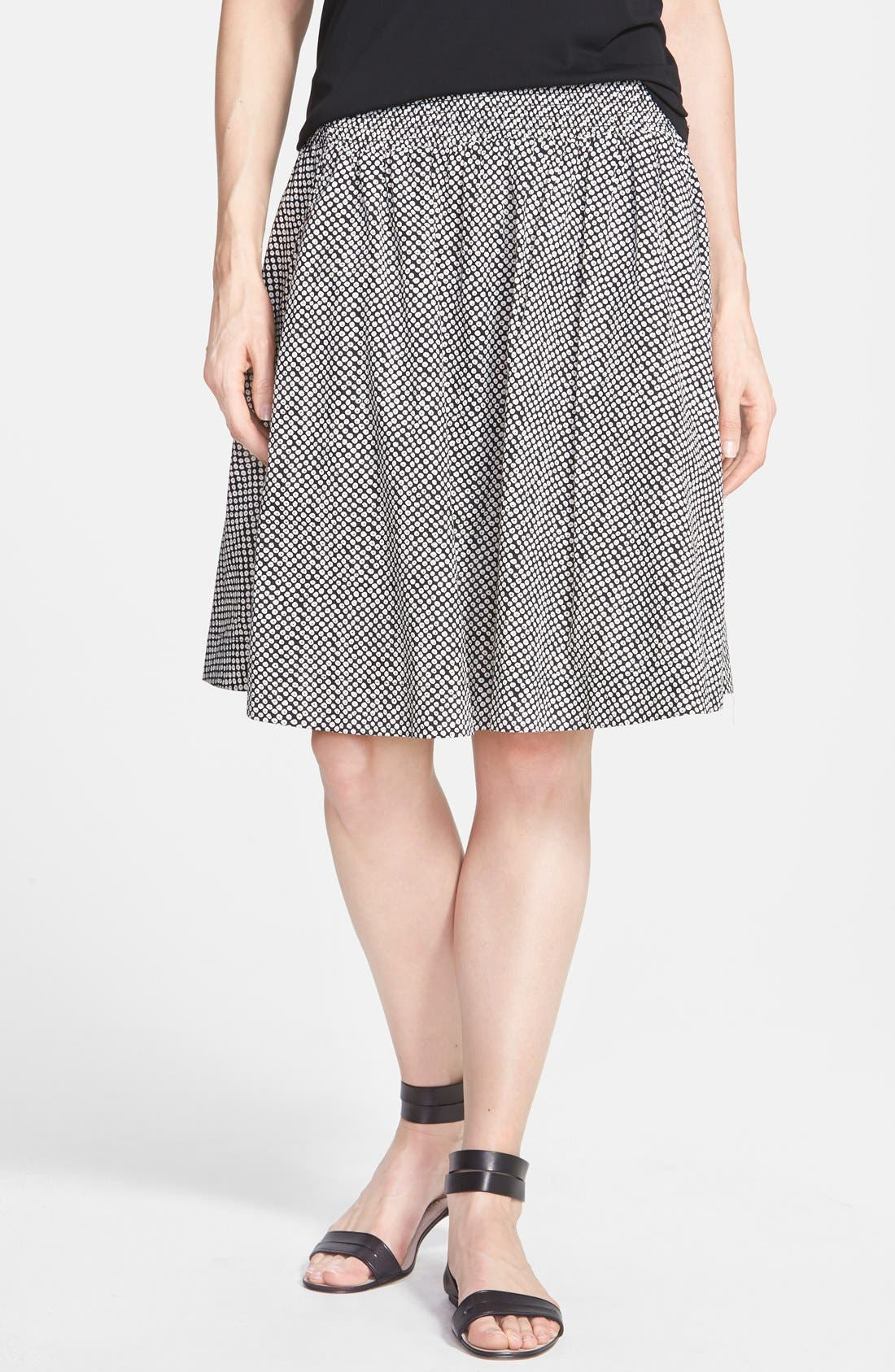 Alternate Image 1 Selected - Eileen Fisher Bandhini Print Organic Cotton Skirt