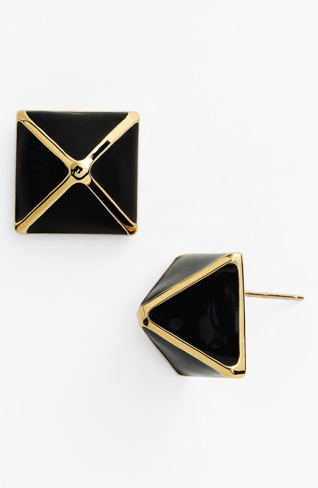 Alternate Image 1 Selected - St. John Collection Enamel Pyramid Stud Earrings