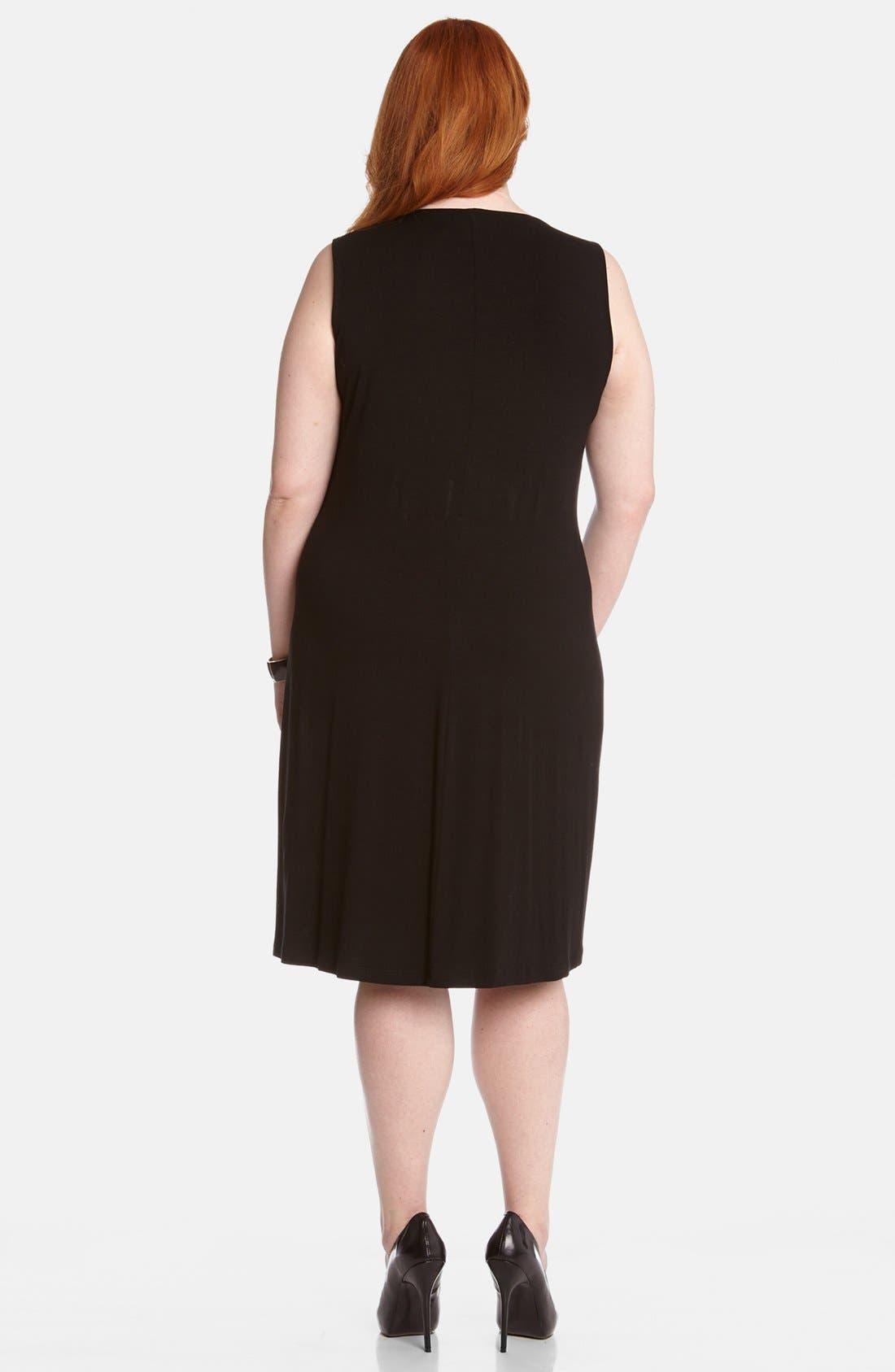 Alternate Image 2  - Karen Kane 'Isabel' Studded Jersey Dress (Plus Size)