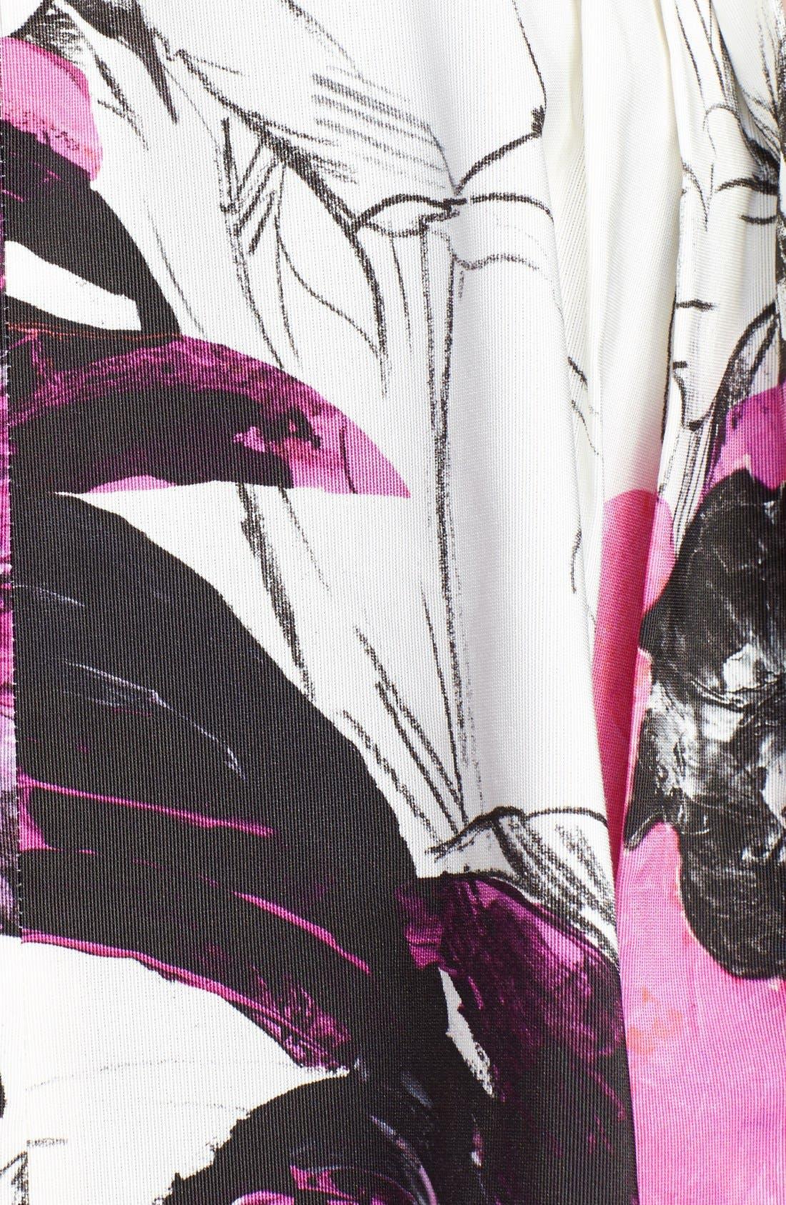 Alternate Image 3  - Milly 'Winter Orchid' Print Midi Skirt