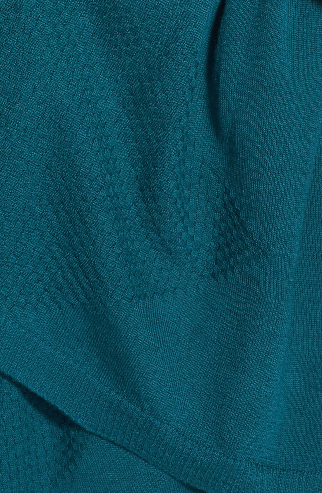 Alternate Image 3  - Halogen® Diamond Stitch Wool Blend Wrap