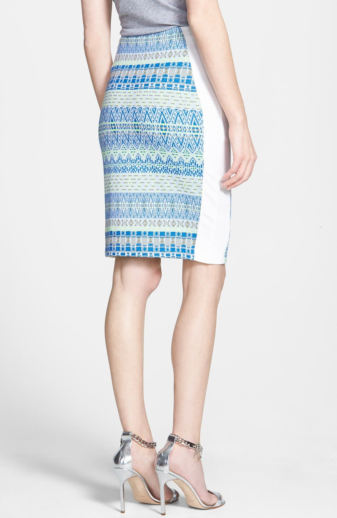 Alternate Image 2  - Ella Moss 'Paz' Print Pencil Skirt