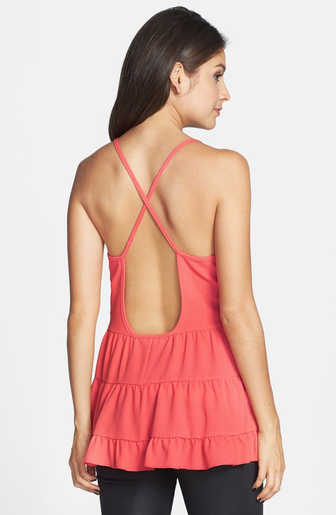 Alternate Image 2  - Starling Open Back Tiered Tunic Tank (Juniors)