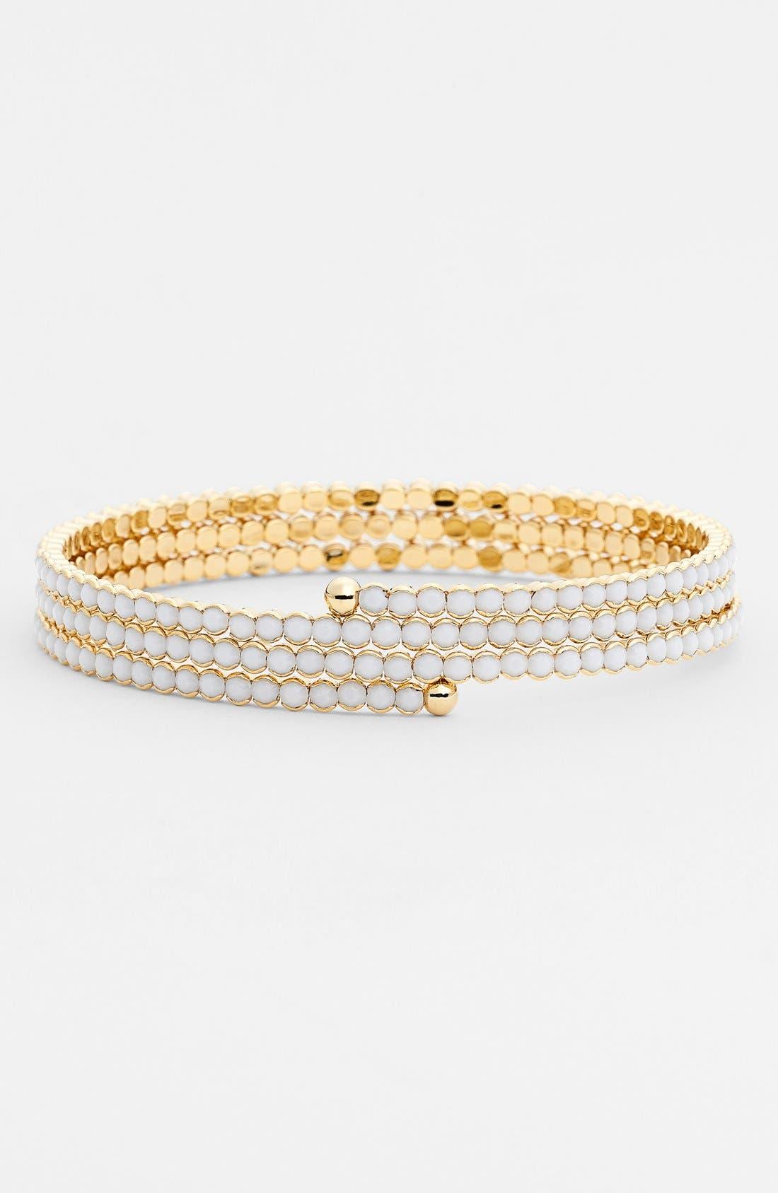 Alternate Image 1 Selected - Cara Accessories Crystal Coil Bracelet