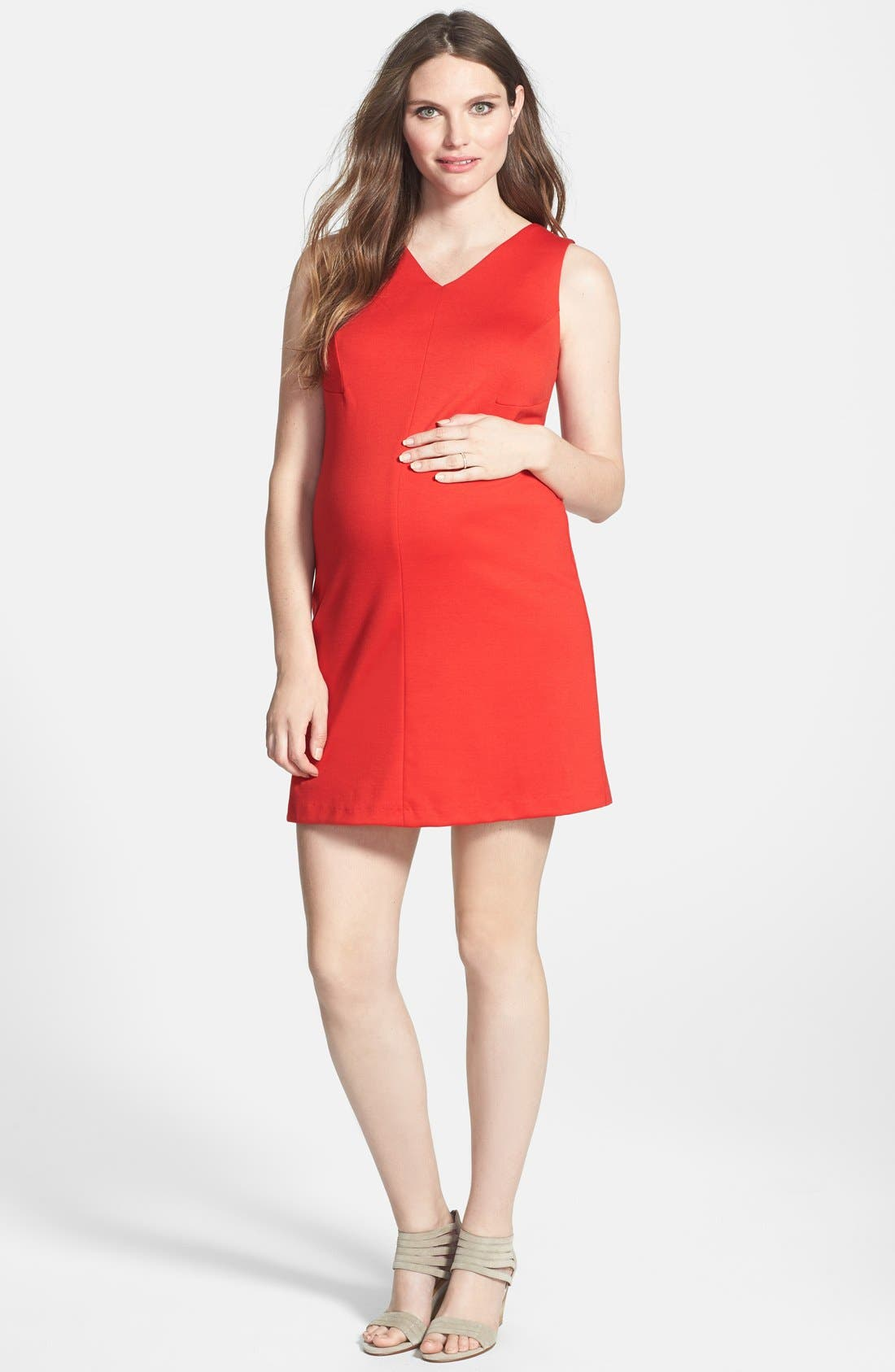 Maternal America Princess Shift Maternity Dress